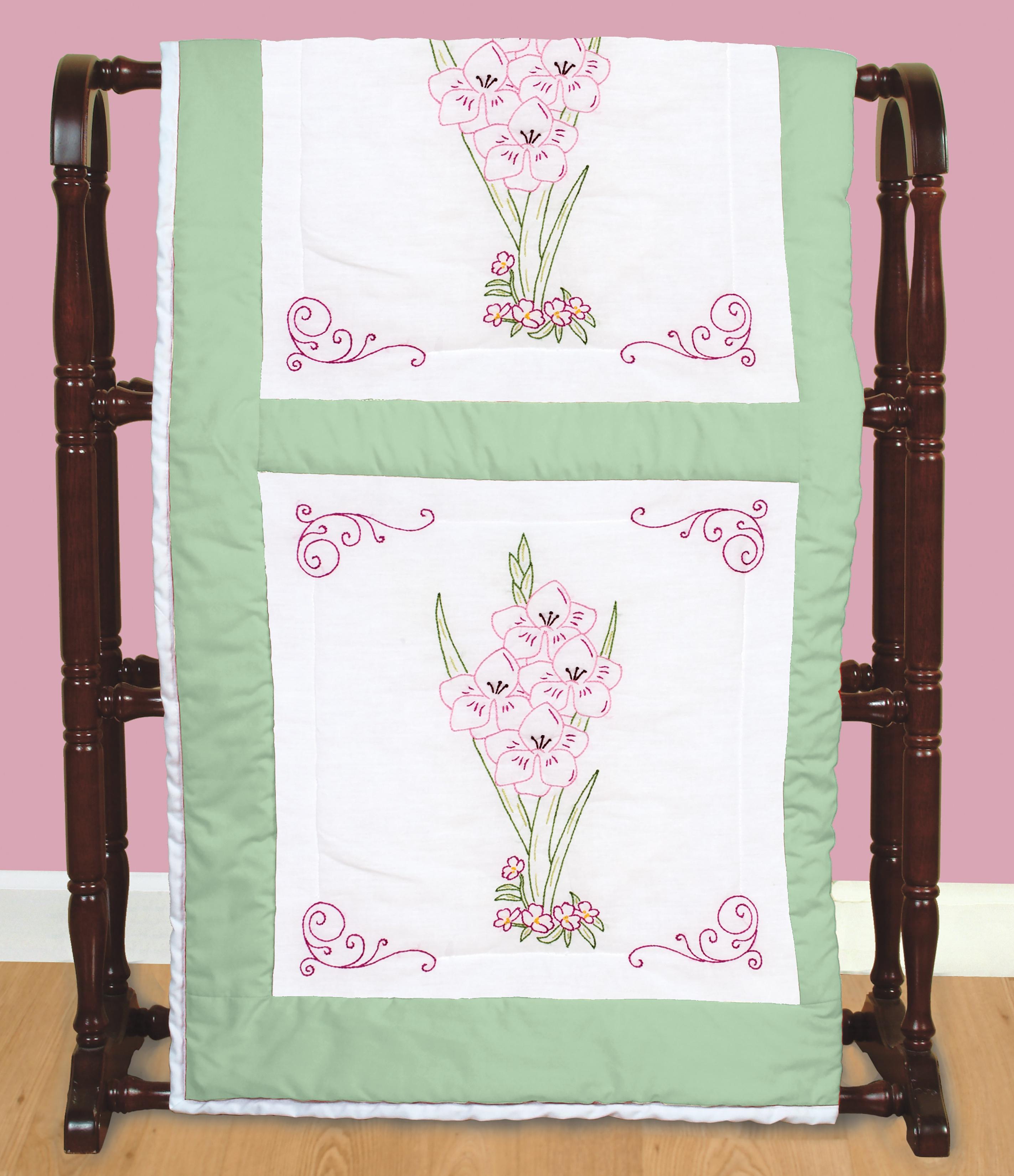 Stamped Embroidery Blocks - 18in - Gladiolus