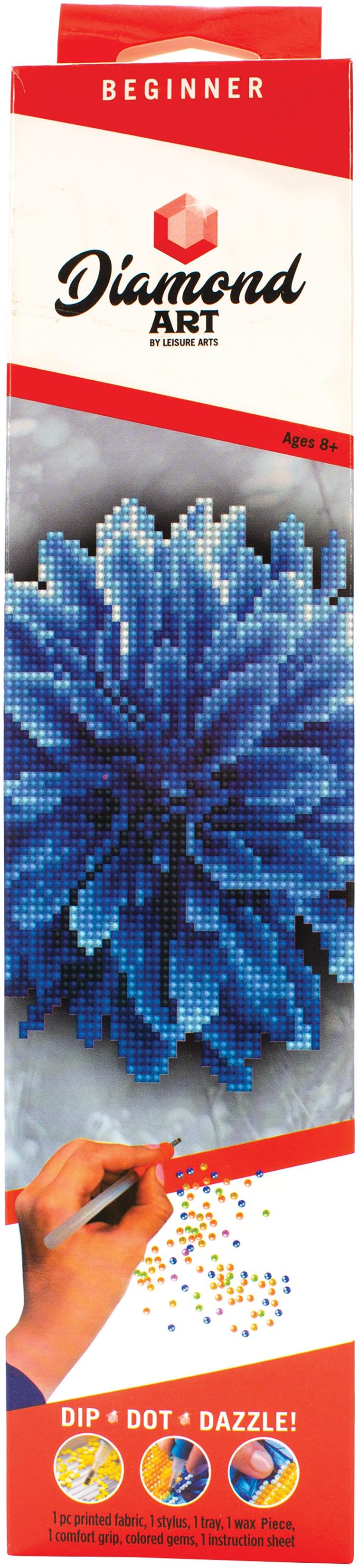 Diamond Art Kit 8x8 Beginner Blue Dahlia