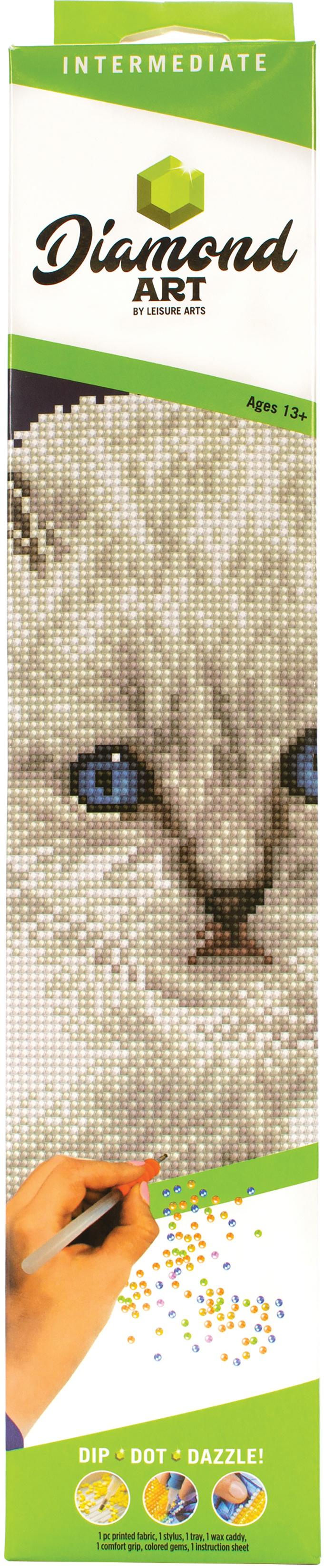 DIAMOND ART KIT 12 WHITE CAT