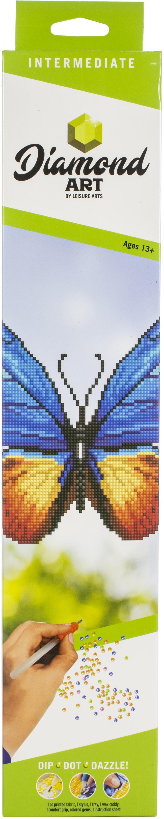 Diamond Art Kit 12x12 Intermediate Butterfly