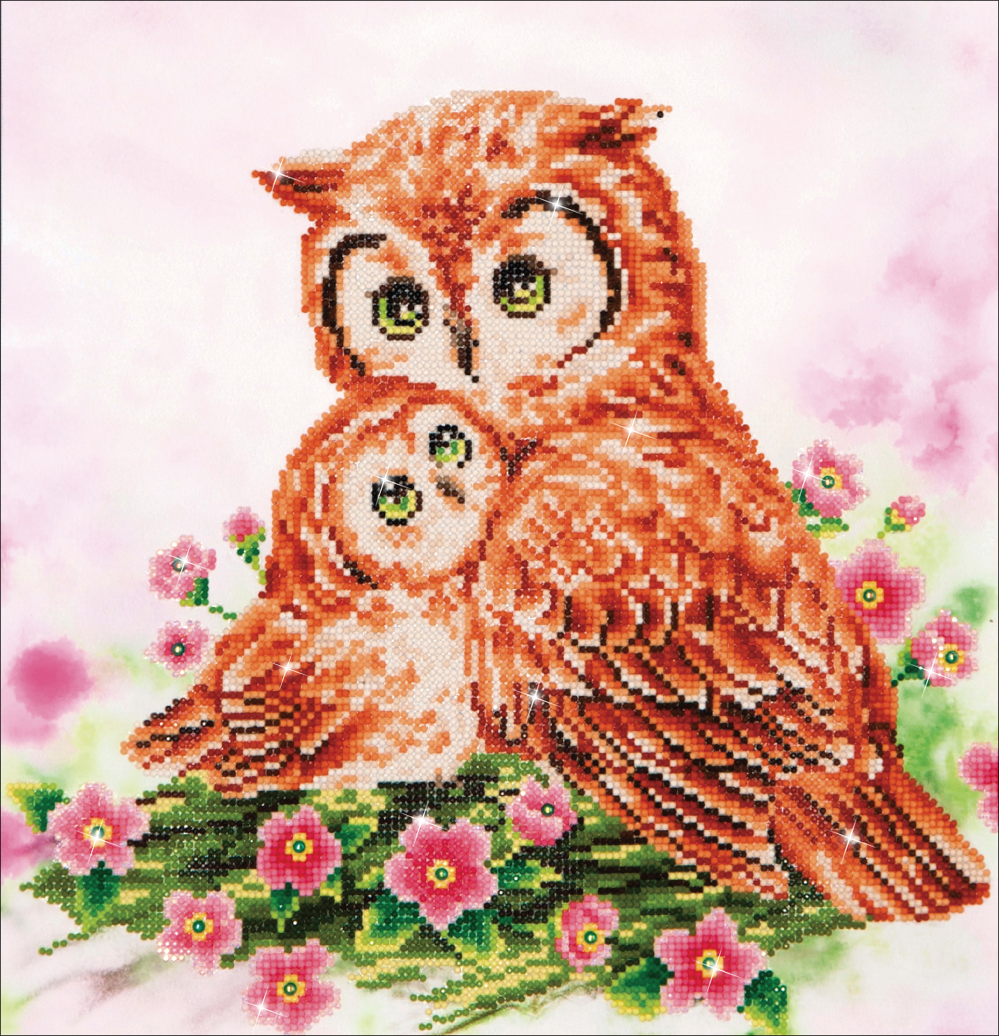 Diamond Dotz Diamond Embroidery Facet Art Kit 16.5X16.5-Mother & Baby Owl