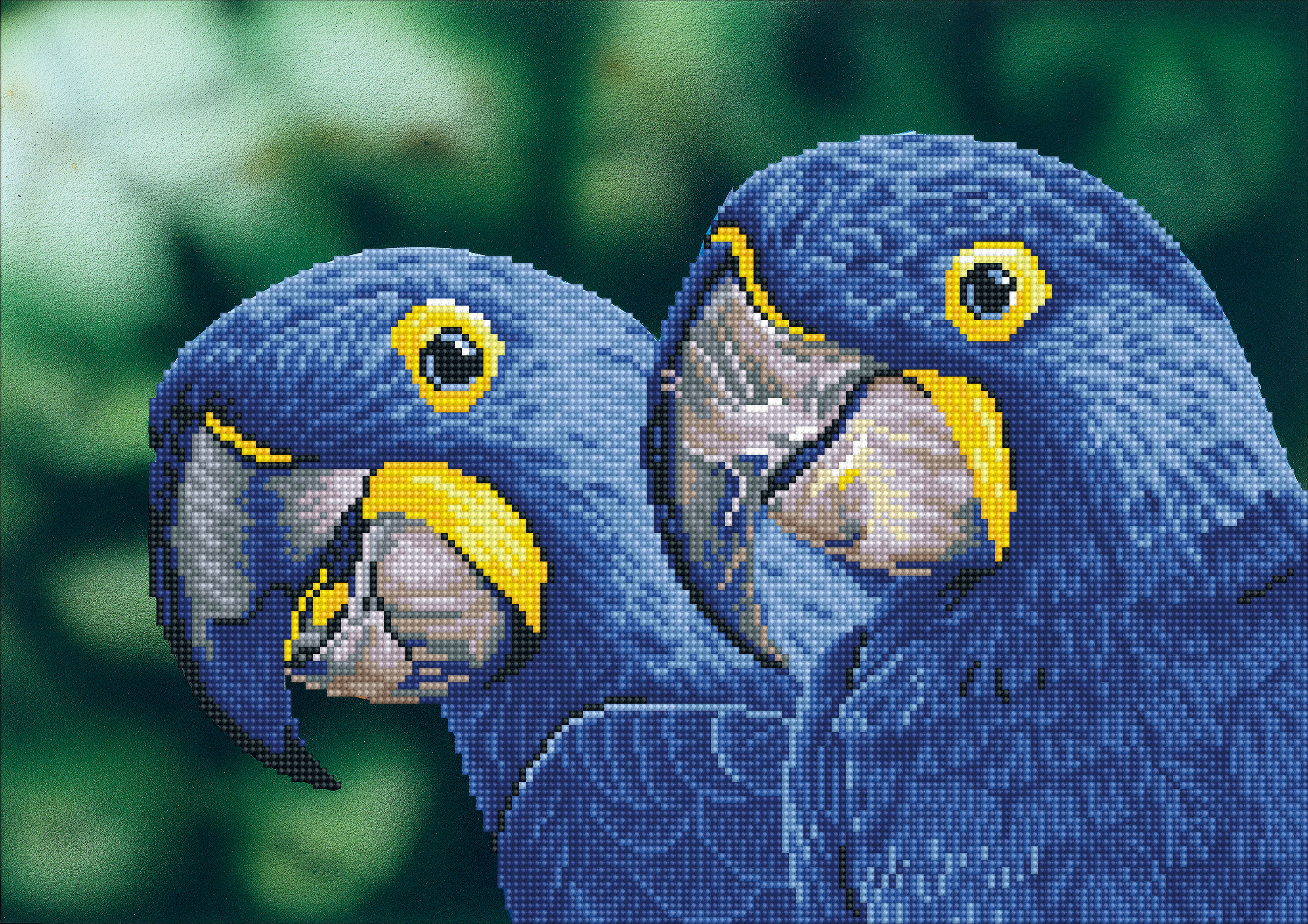 Diamond Dotz Diamond Embroidery Facet Art Kit 20.5X14.6-Blue Hyacinth Macaws