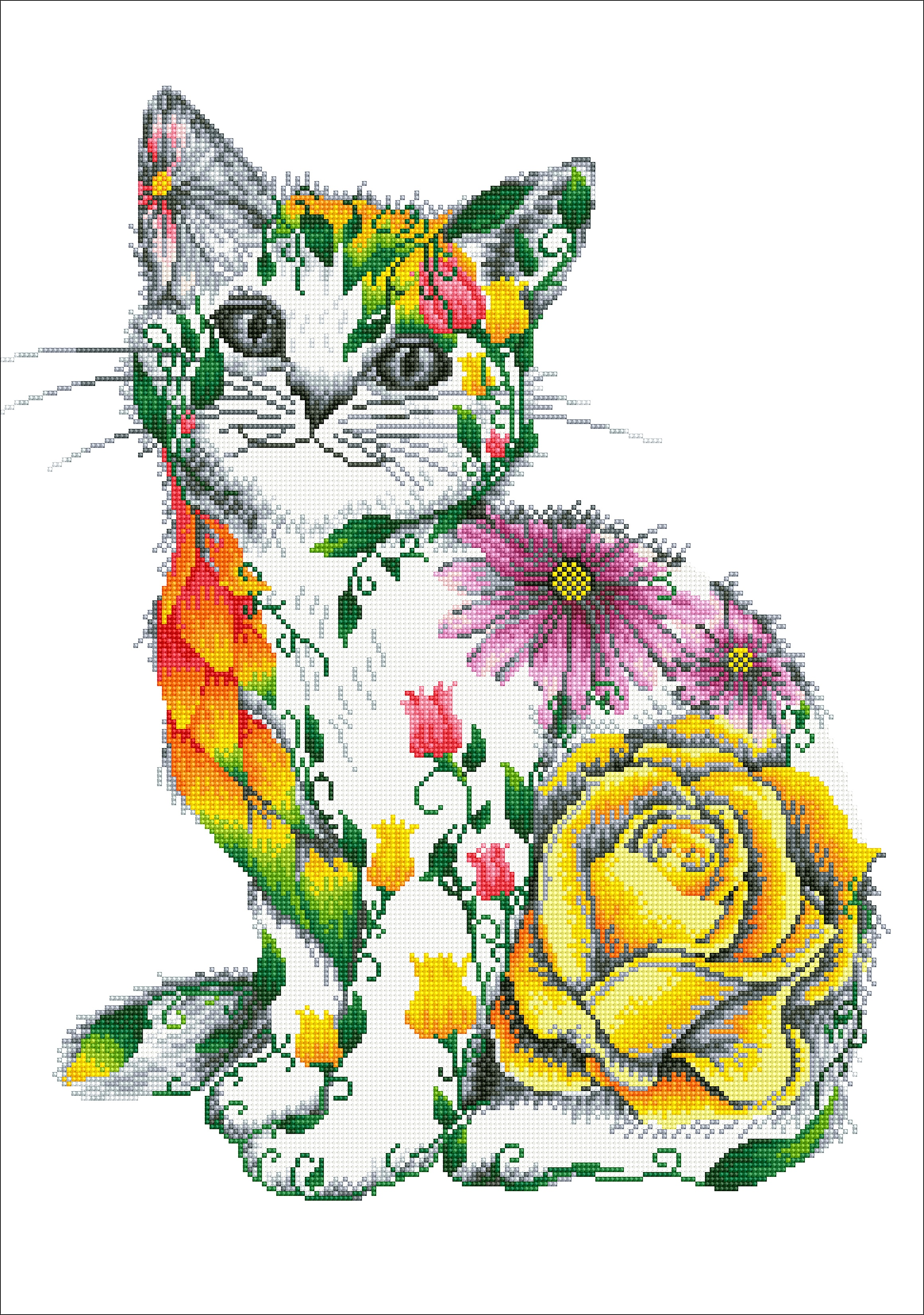 Diamond Dotz Diamond Embroidery Facet Art Kit 21.7X30.7-Flower Puss