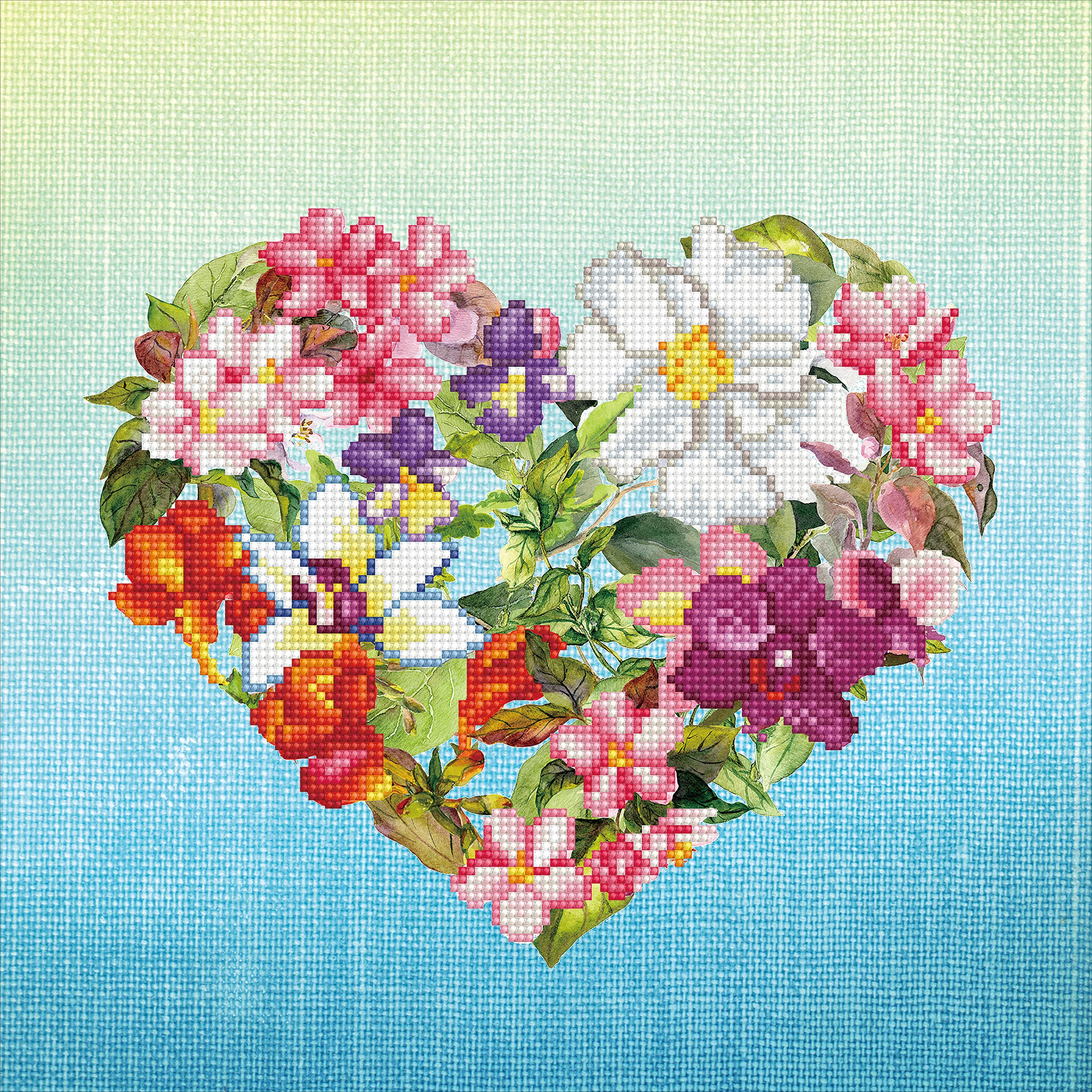 Diamond Dotz Diamond Embroidery Facet Art Kit 14.6X14.6-Flower Heart