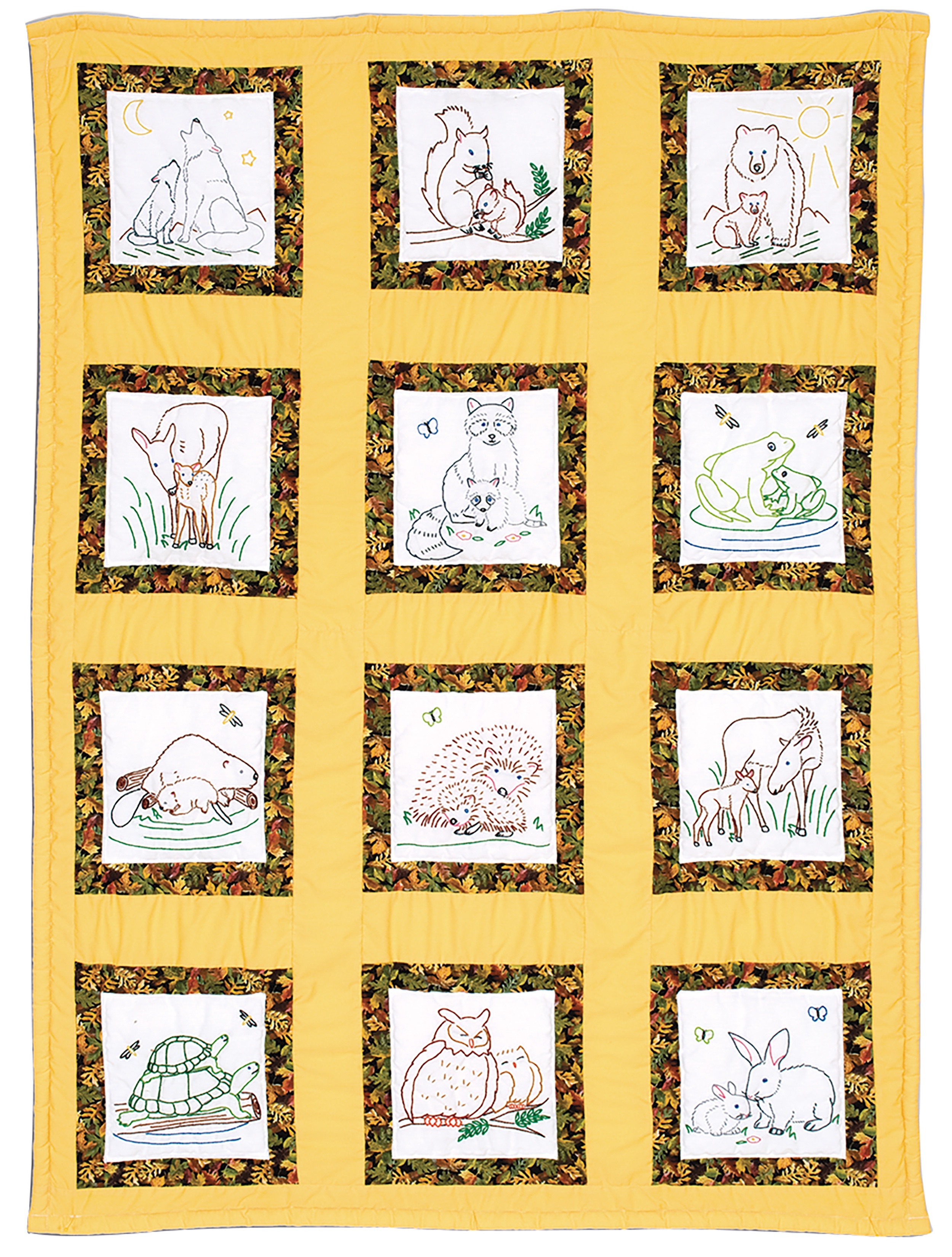 Stamped Embroidery Blocks - Wilderness Animals