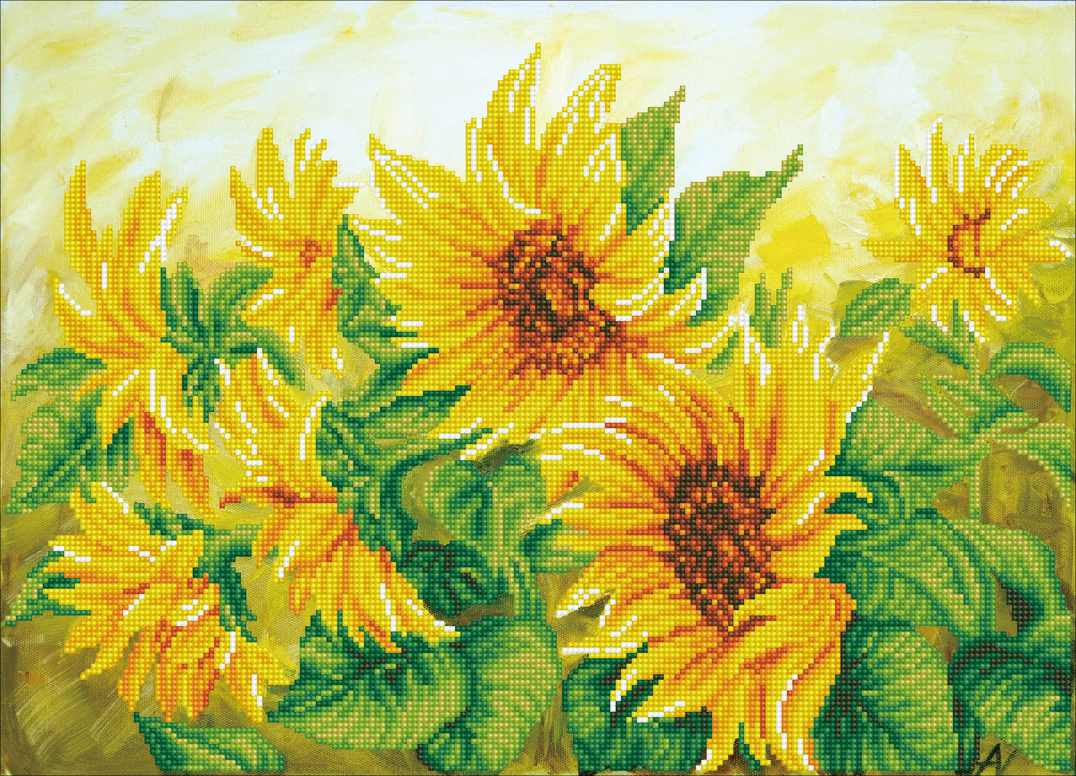 Diamond Dotz Diamond Embroidery Facet Art Kit 22.44X16.14-Hazy Daze Sunflowers
