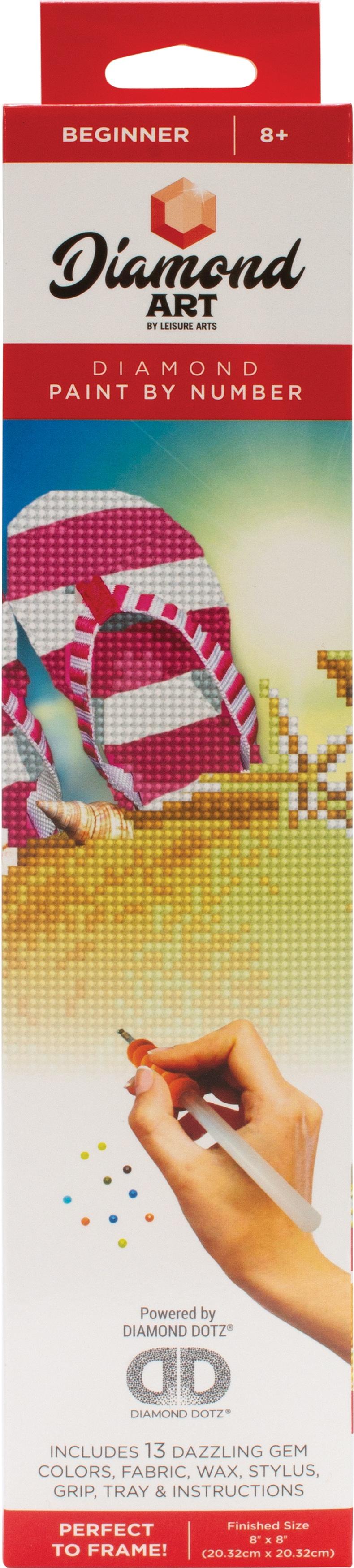 Diamond Art Kit 8x8 Beginner Flip Flops