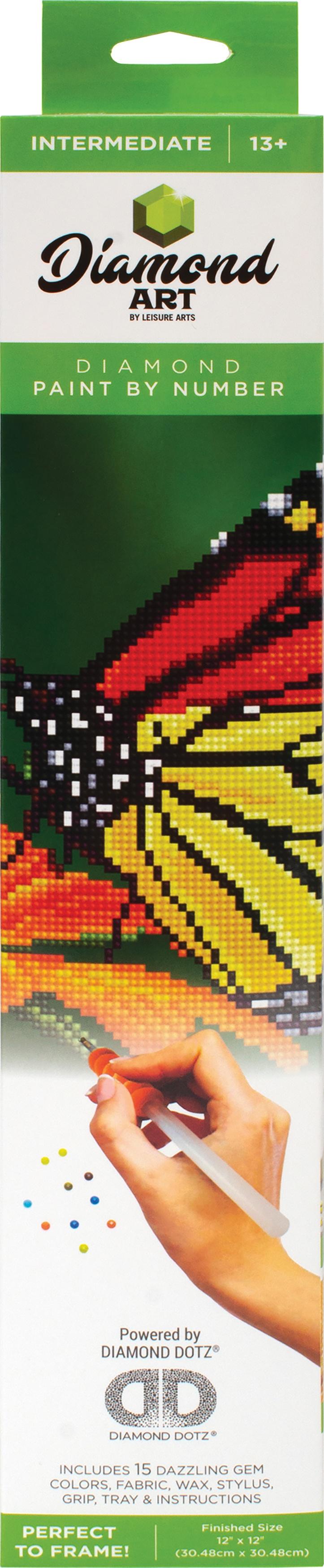 Diamond Art Kit 12x12 Intermediate Monarch
