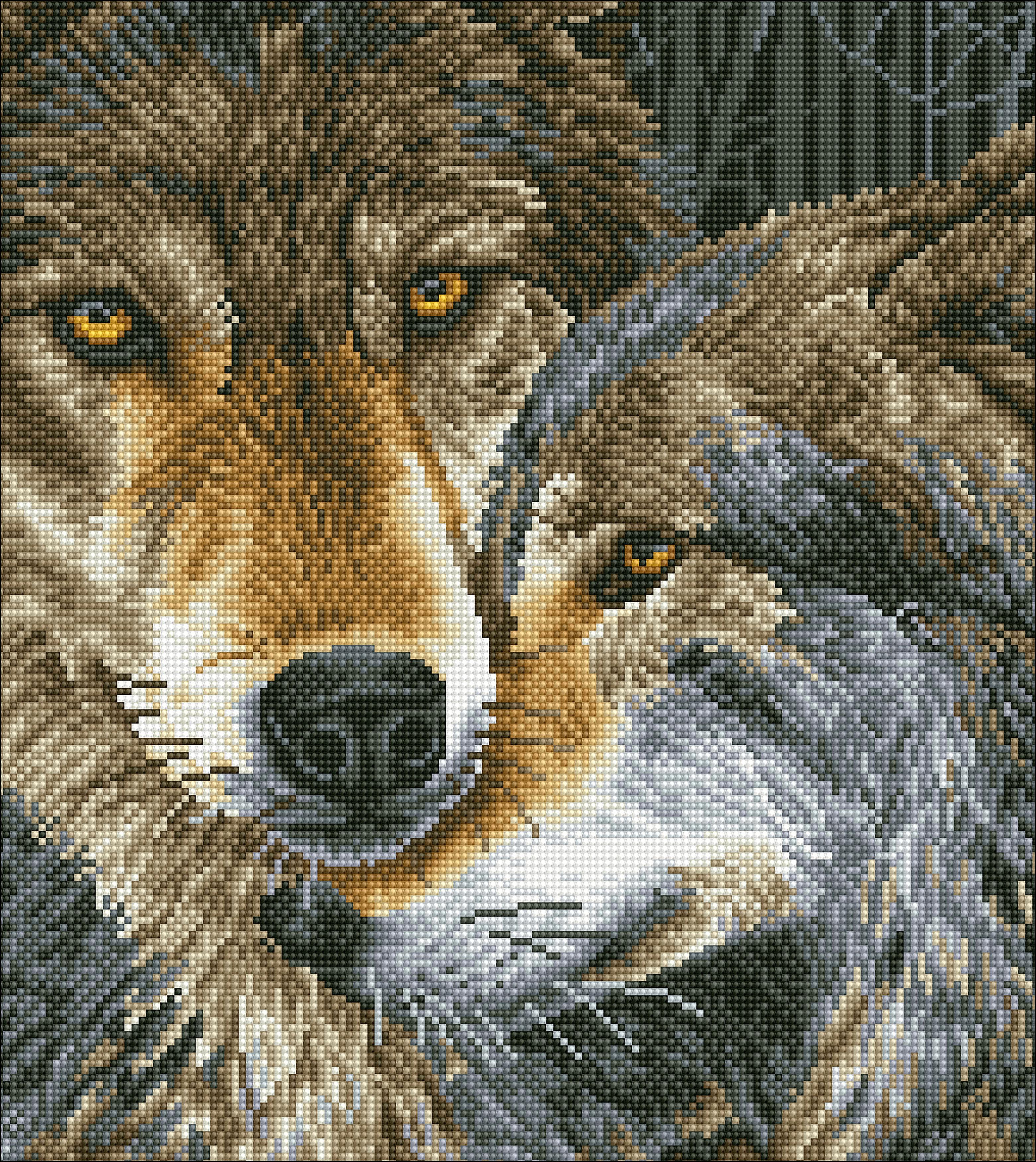 Diamond Dotz Diamond Embroidery Facet Art Kit 16.5X18.5-Muzzle Nuzzle