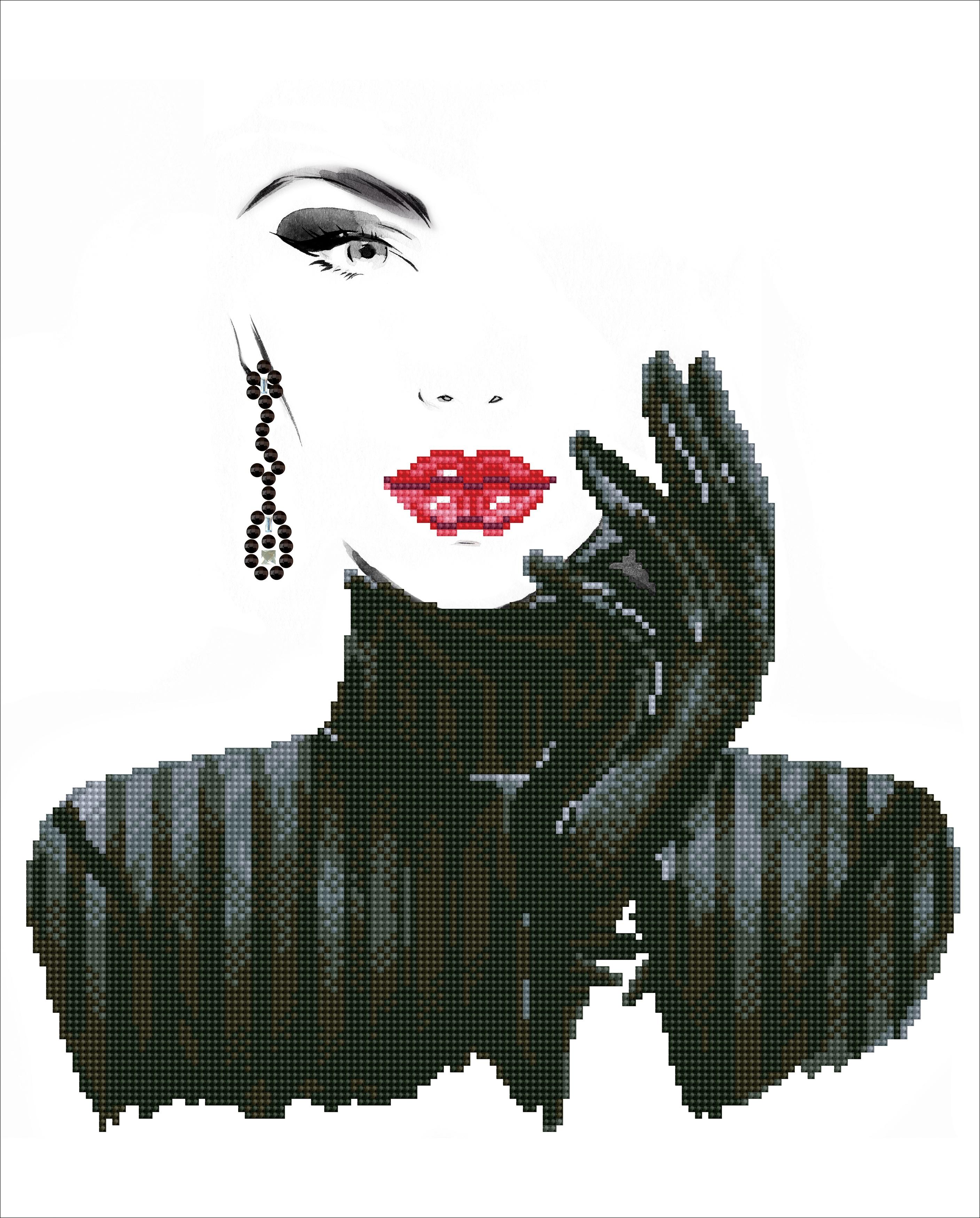 Diamond Dotz Diamond Embroidery Facet Art Kit 16.5X20.5-Lady In Black