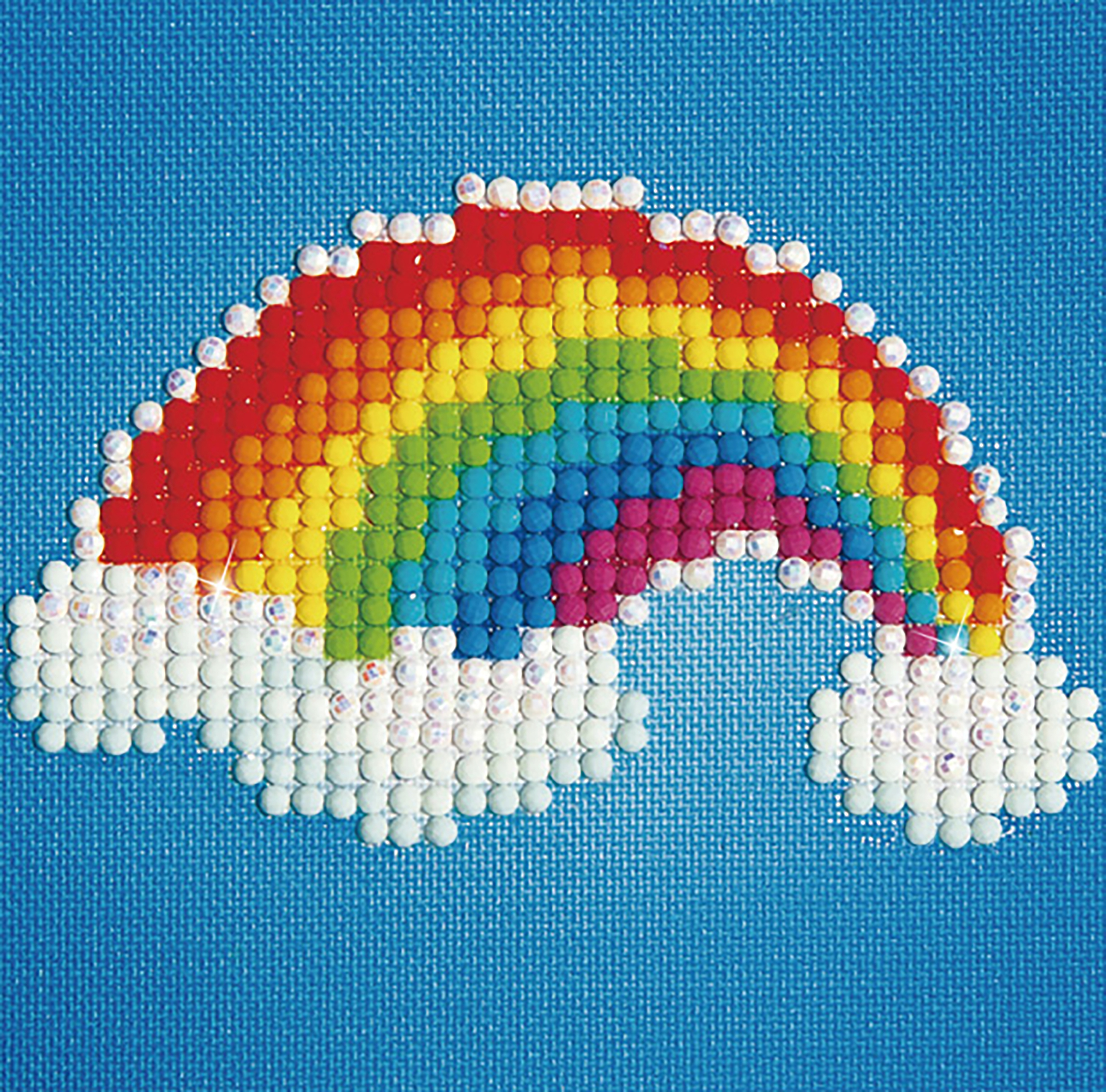 Diamond Dotz Diamond Embroidery Facet Art Kit W/ Frame-Ever Living Rainbow W/ White Frame