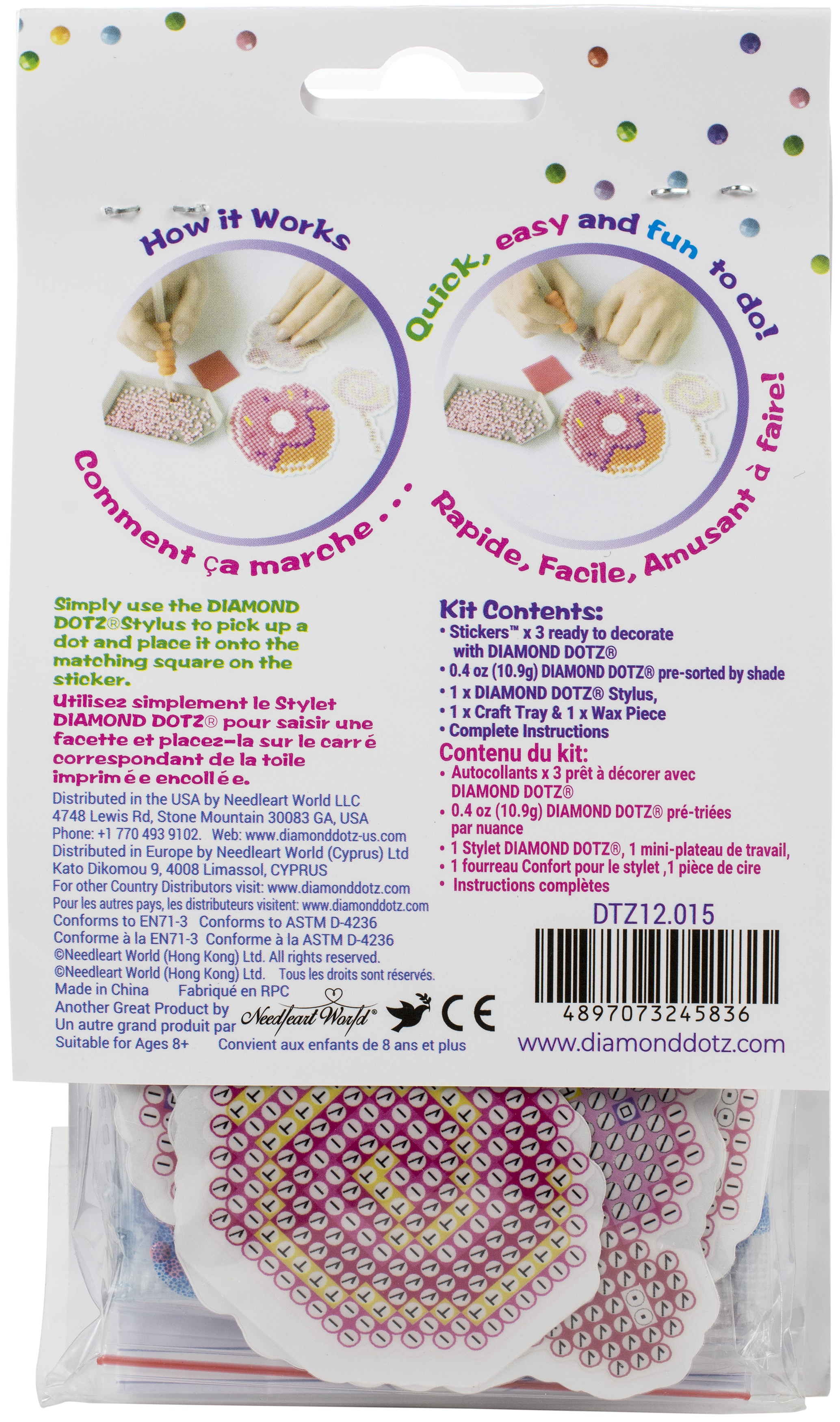Diamond Dotz DOTZIES Stickers Facet Art Kit-Multi Pack Yum 3/Pkg
