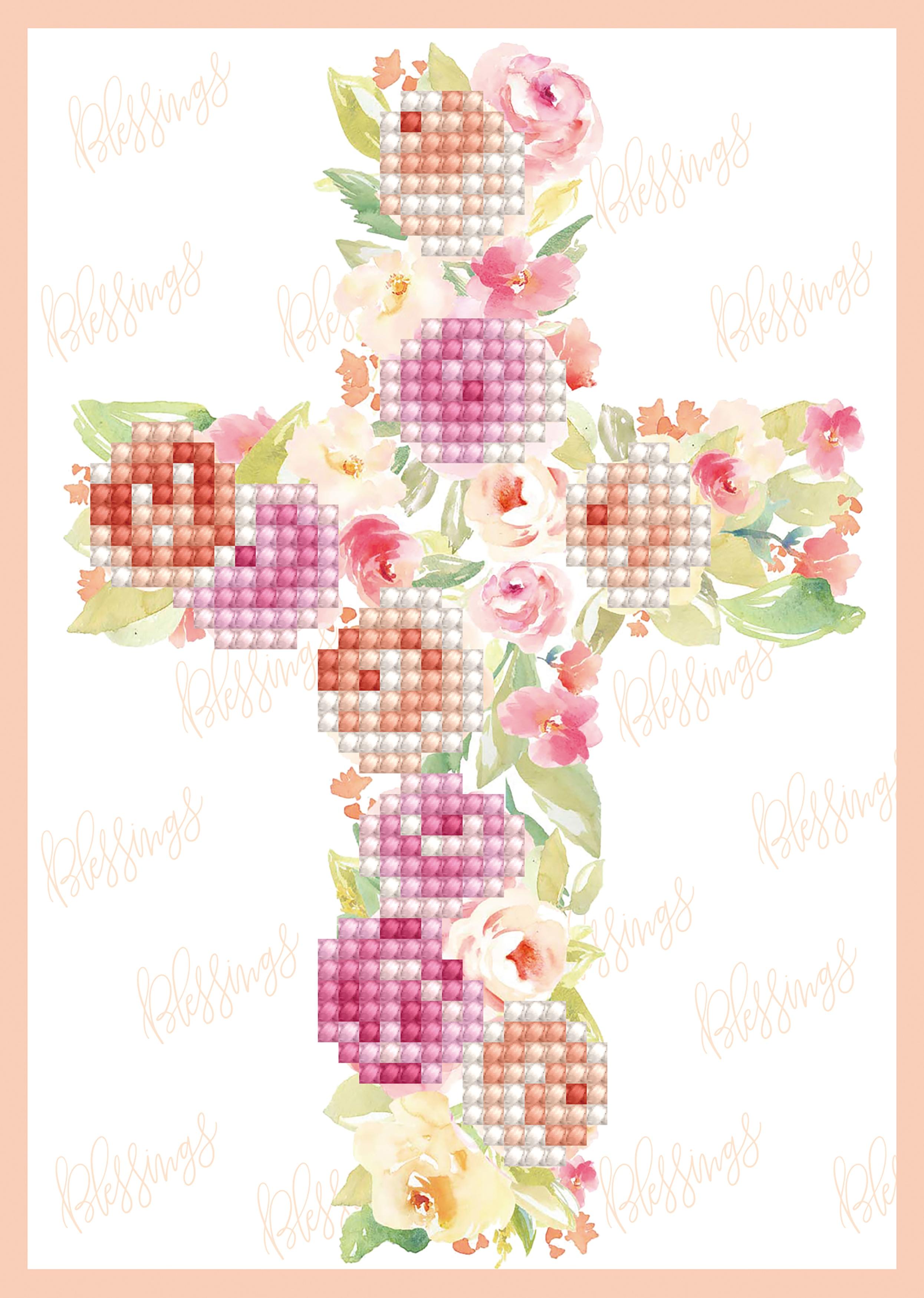 Diamond Dotz Diamond Embroidery Facet Art Greeting Card Kit - Blessings