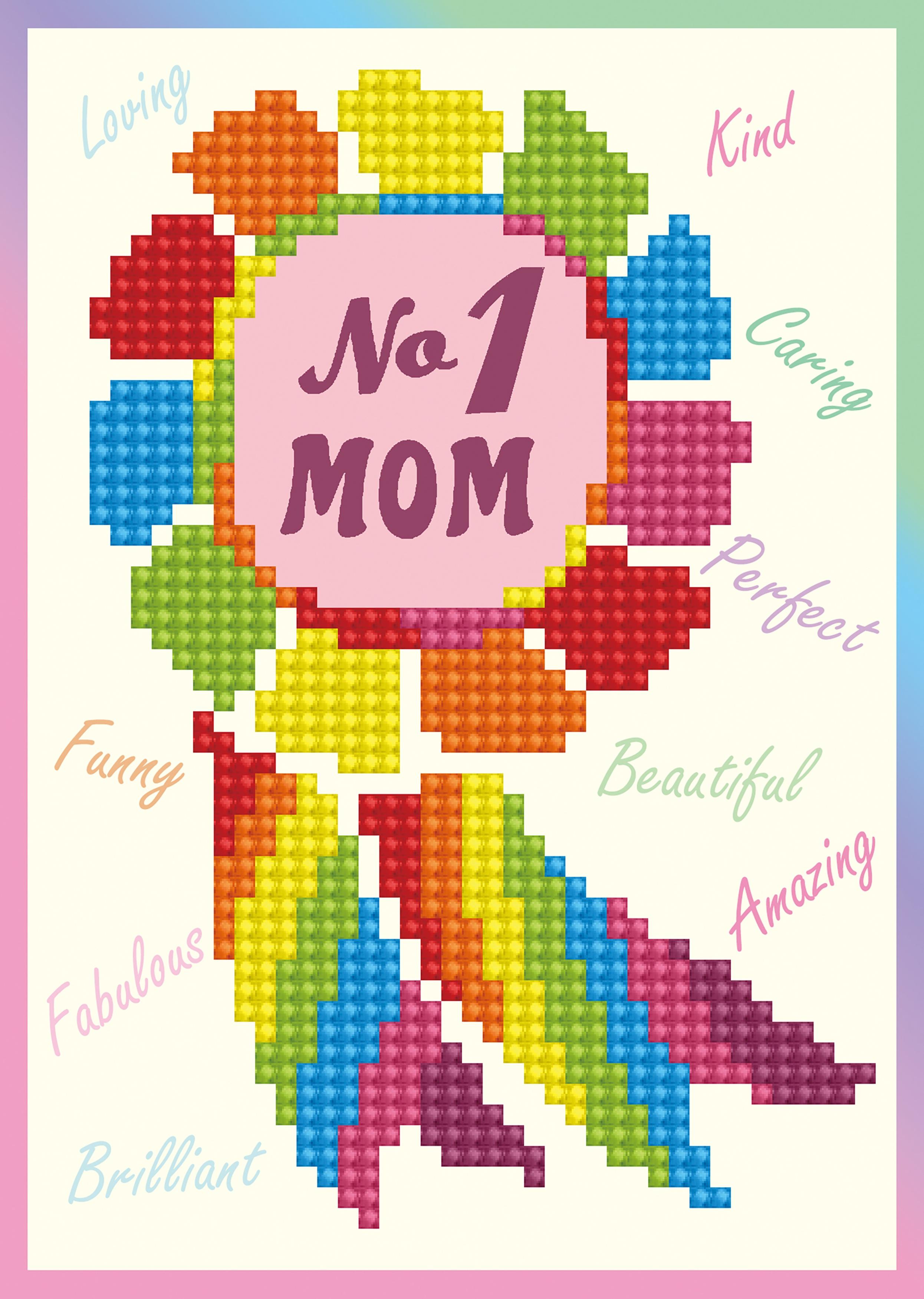 Diamond Dotz Diamond Embroidery Facet Art Greeting Card Kit-No.1 Mom