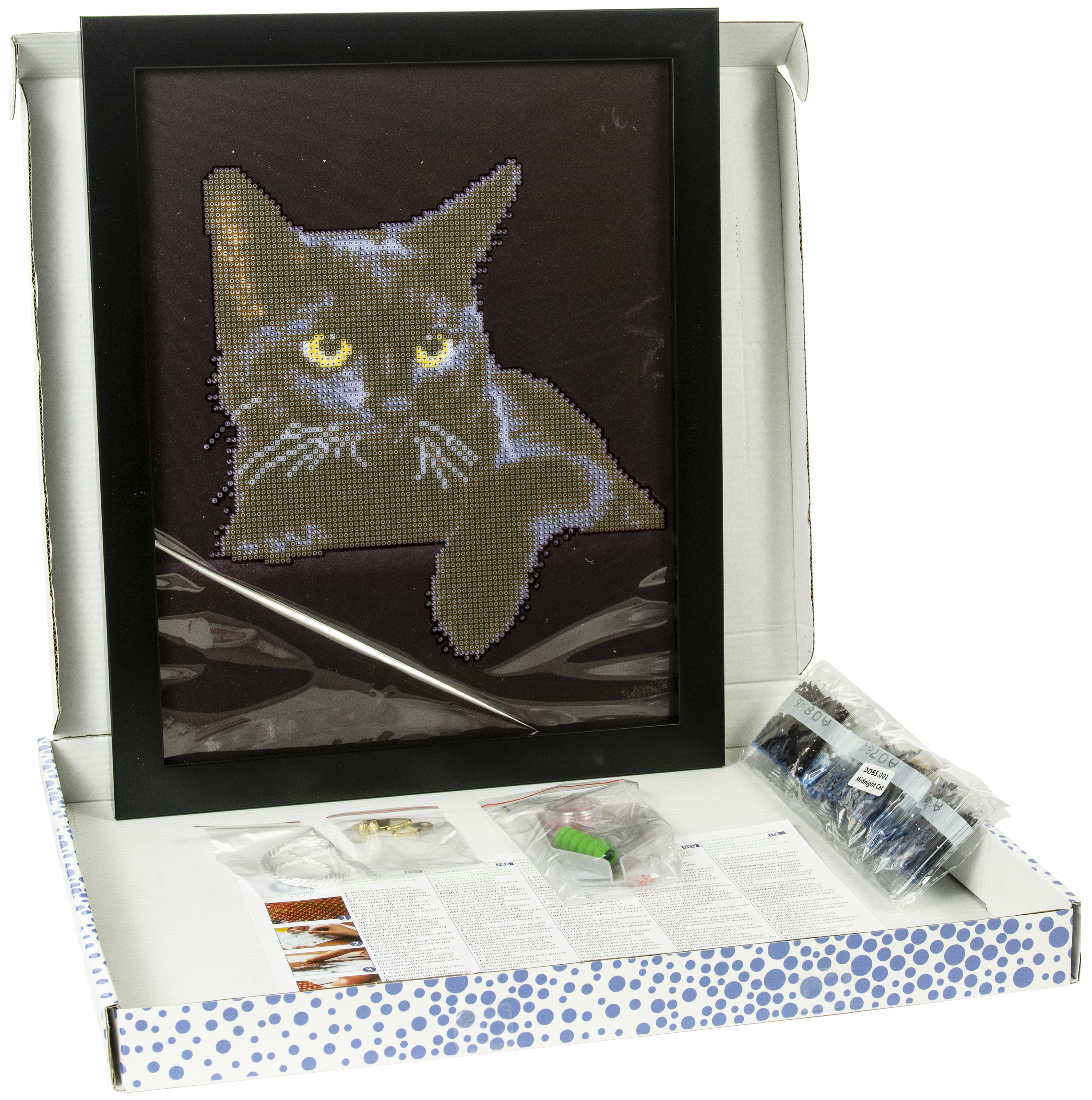 Diamond Dotz Diamond Embroidery Facet Art Kit W/ Frame-Midnight Cat