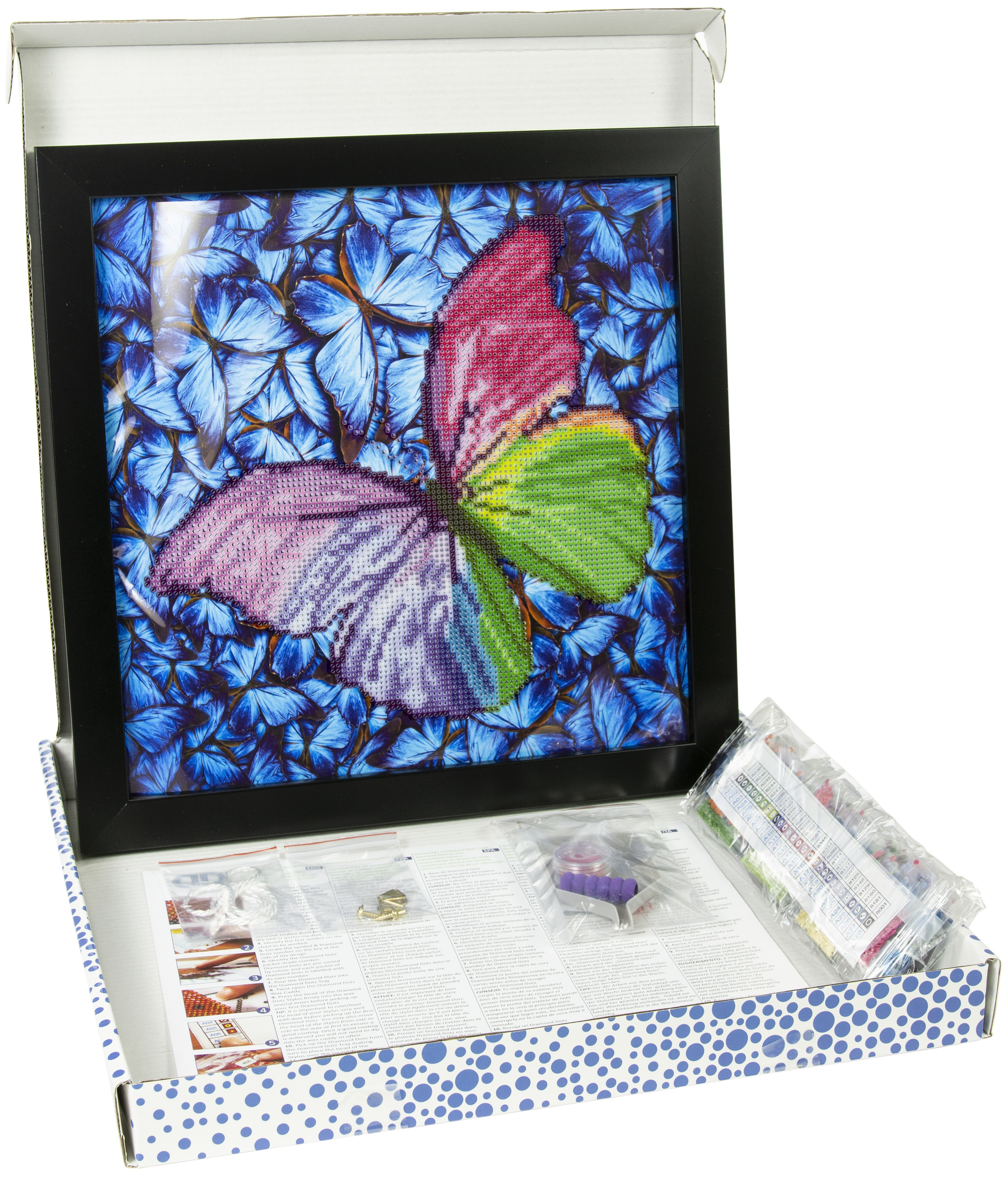 Diamond Dotz Diamond Embroidery Facet Art Kit W/ Frame-Flutter By Pink