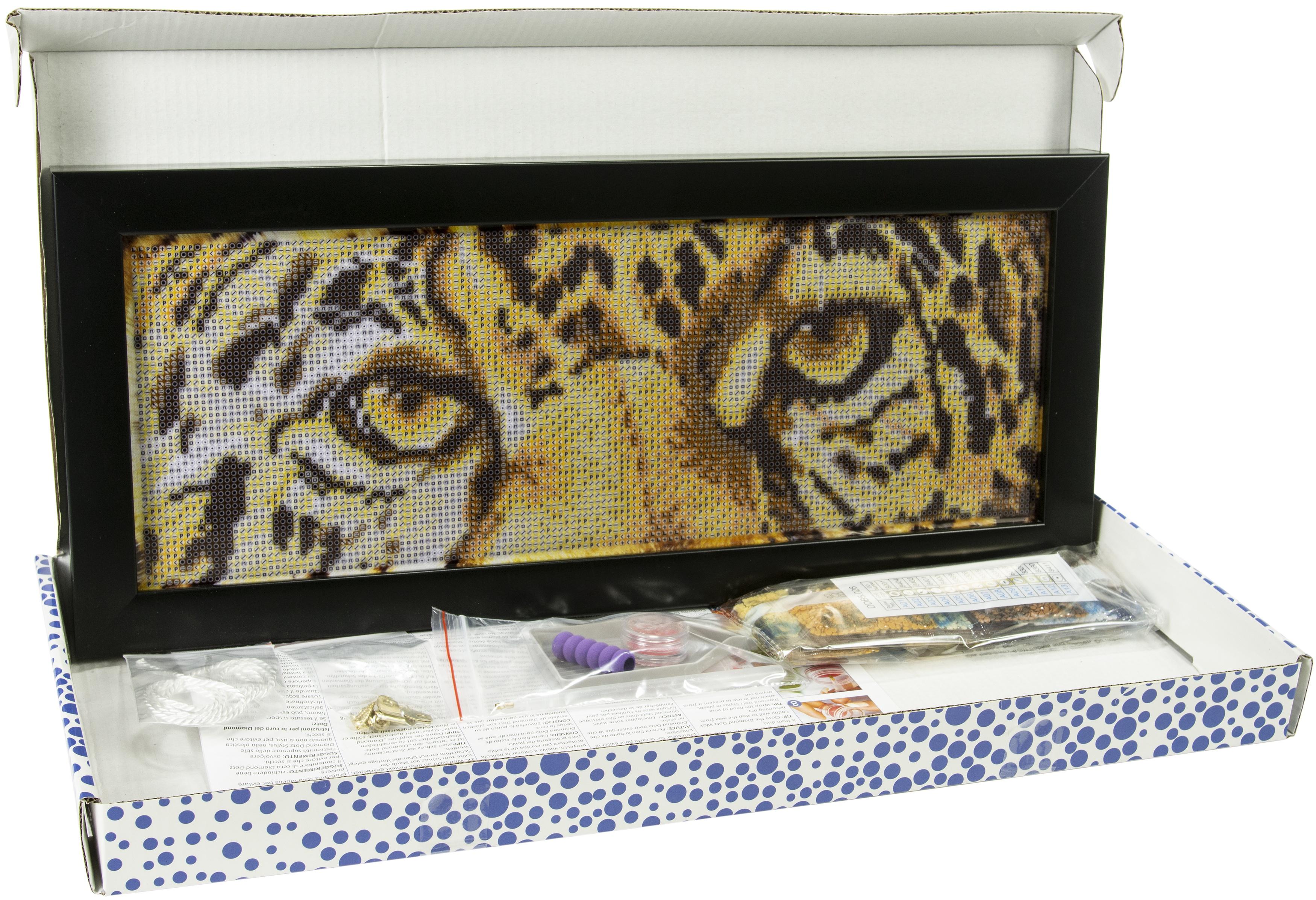 Diamond Dotz Diamond Embroidery Facet Art Kit W/ Frame-Leopard Look