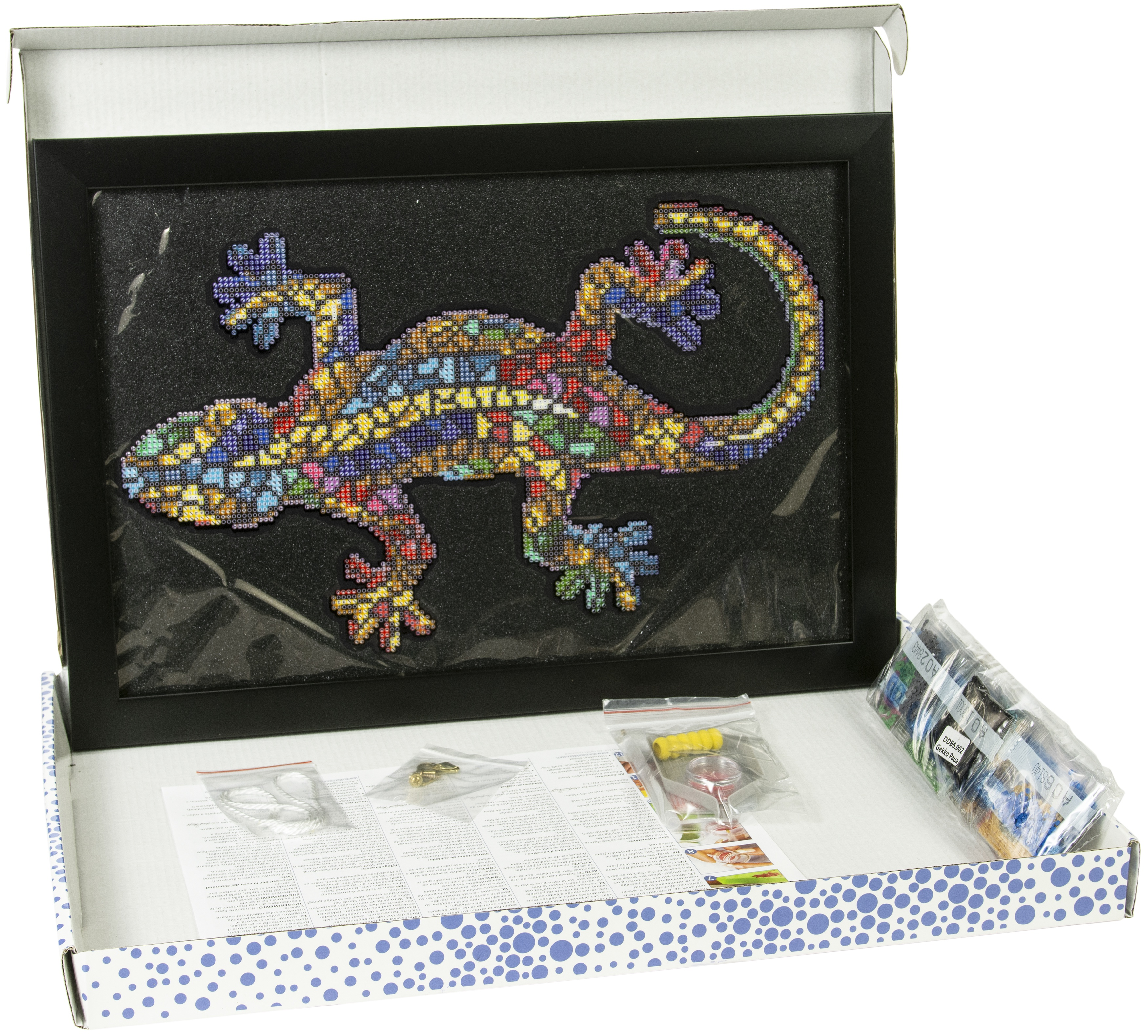 Diamond Dotz Diamond Embroidery Facet Art Kit W/ Frame-Gekko Paua