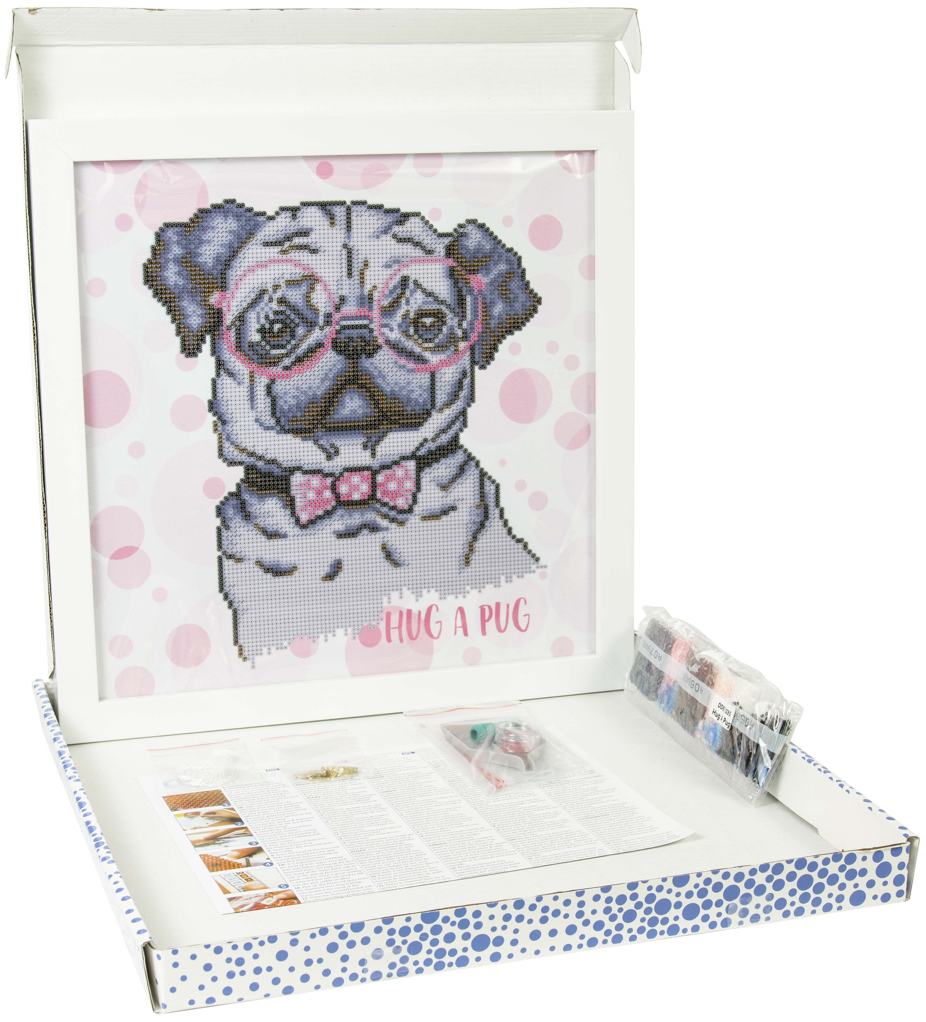 Diamond Dotz Diamond Embroidery Facet Art Kit W/ Frame-Hug A Pug