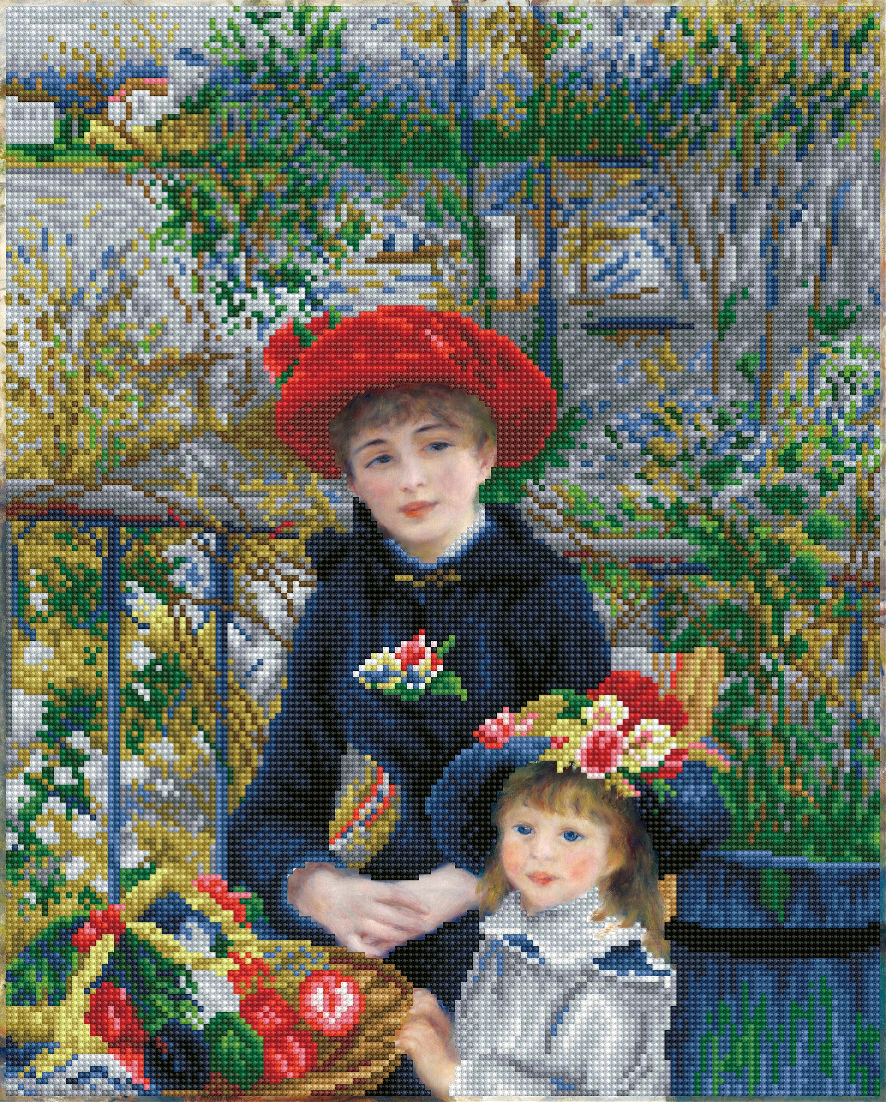 Diamond Dotz Diamond Embroidery Facet Art Kit 16.5X20.5-Two Sisters On The Terrace (renoir)