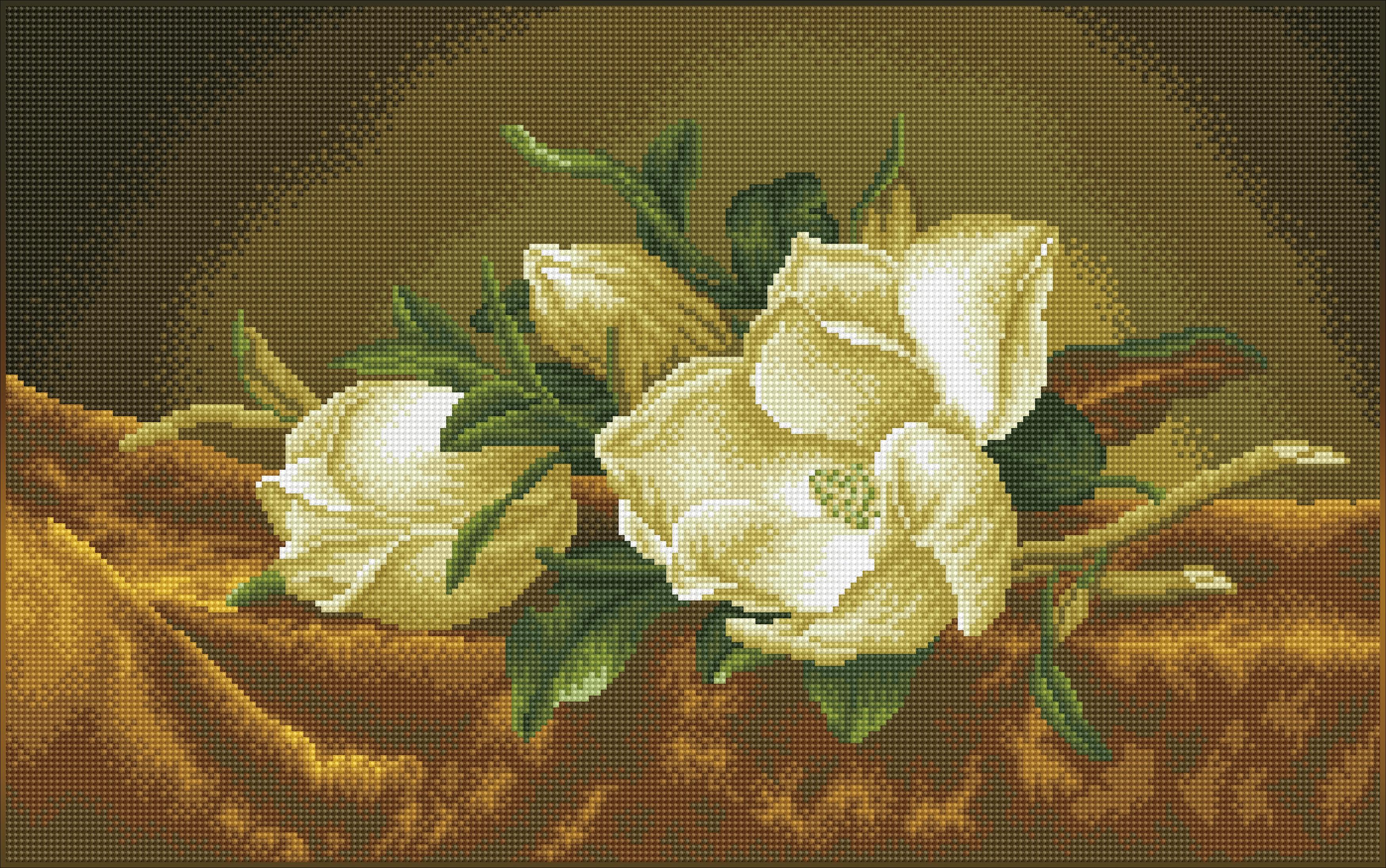 Diamond Dotz Diamond Embroidery Facet Art Kit 26X16.1-Magnolias on Gold Velvet (Heade)
