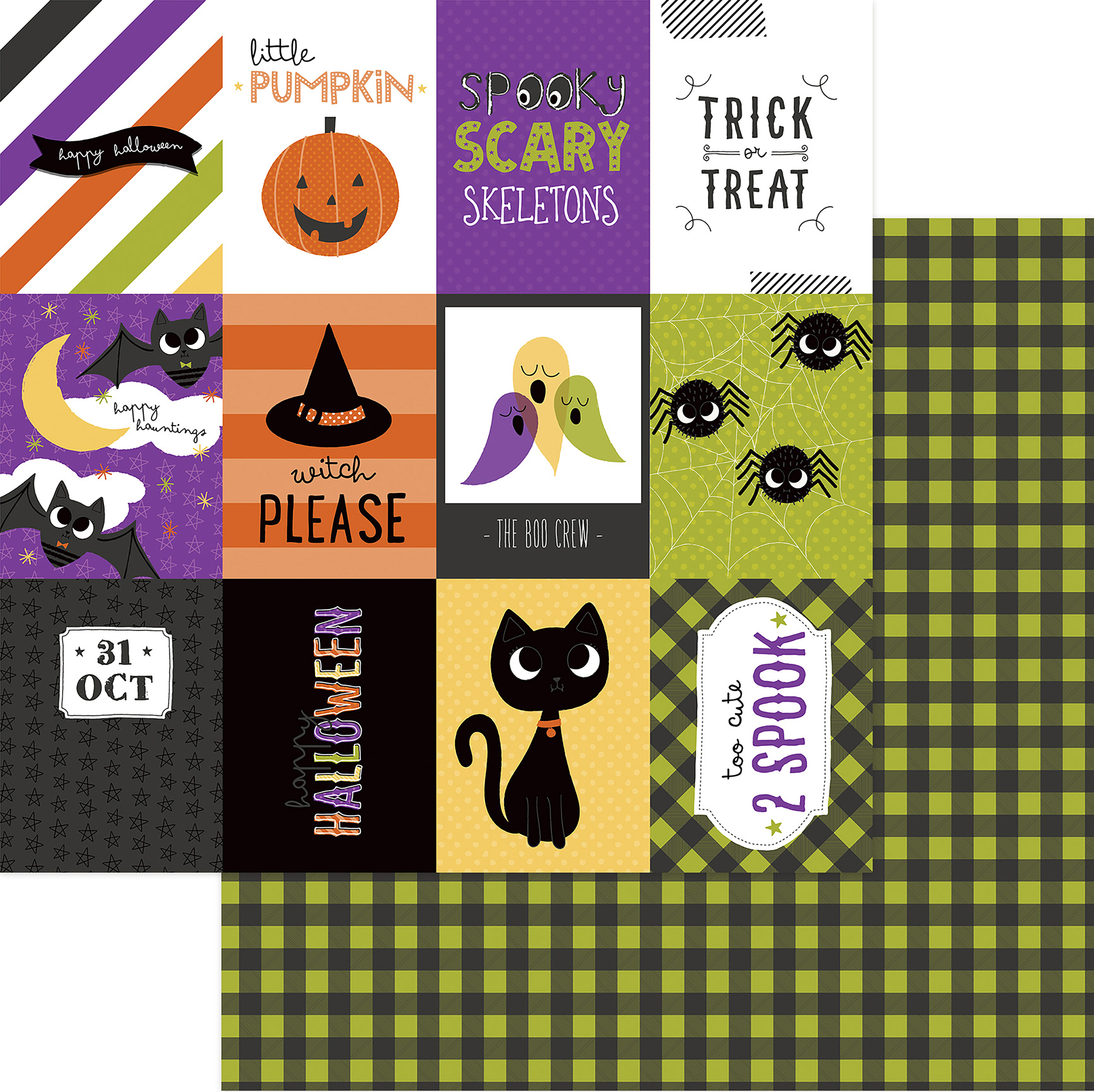 PhotoPlay Trick Or Treat Double-Sided Cardstock 12x12- Happy Boo Day