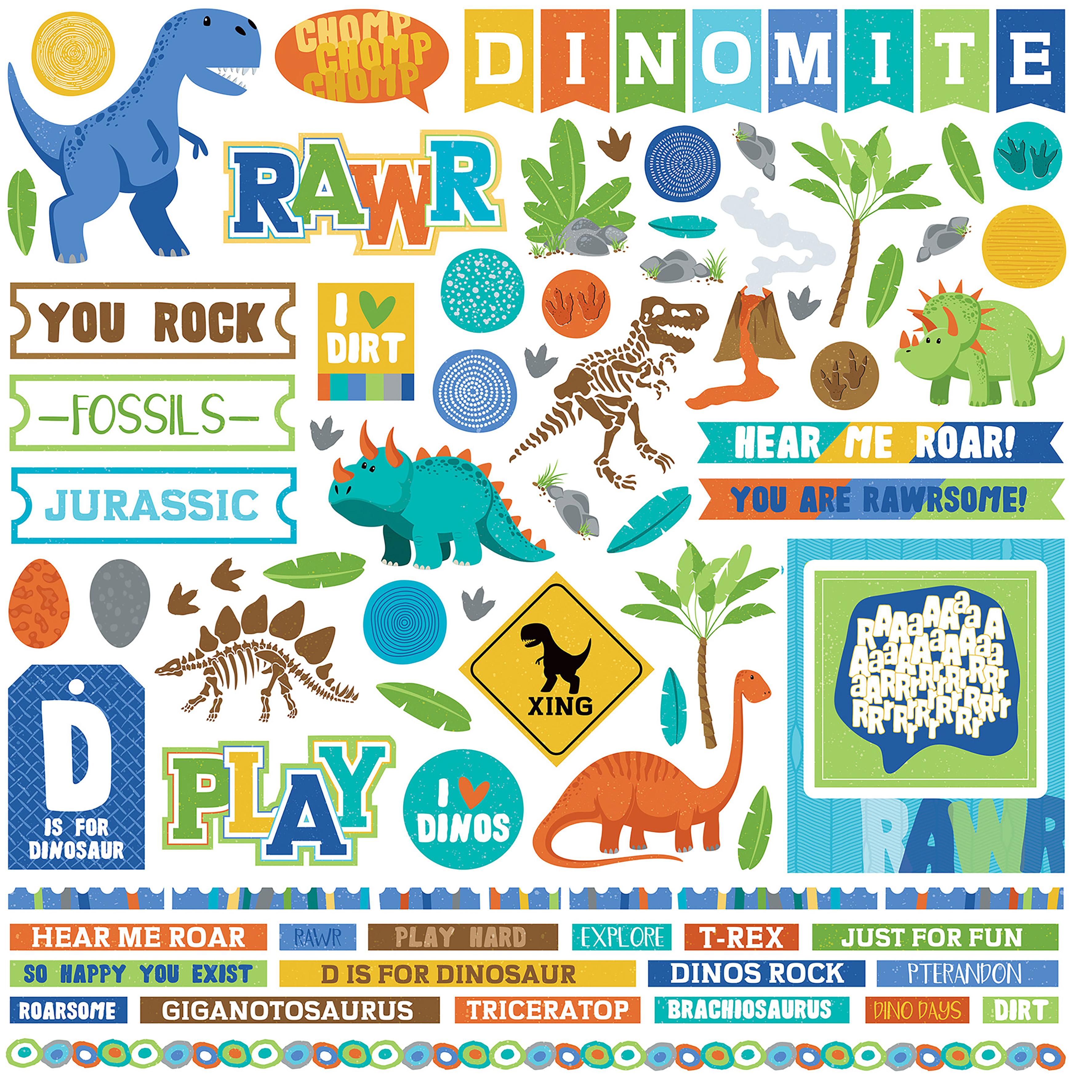Jurassic Element Stickers