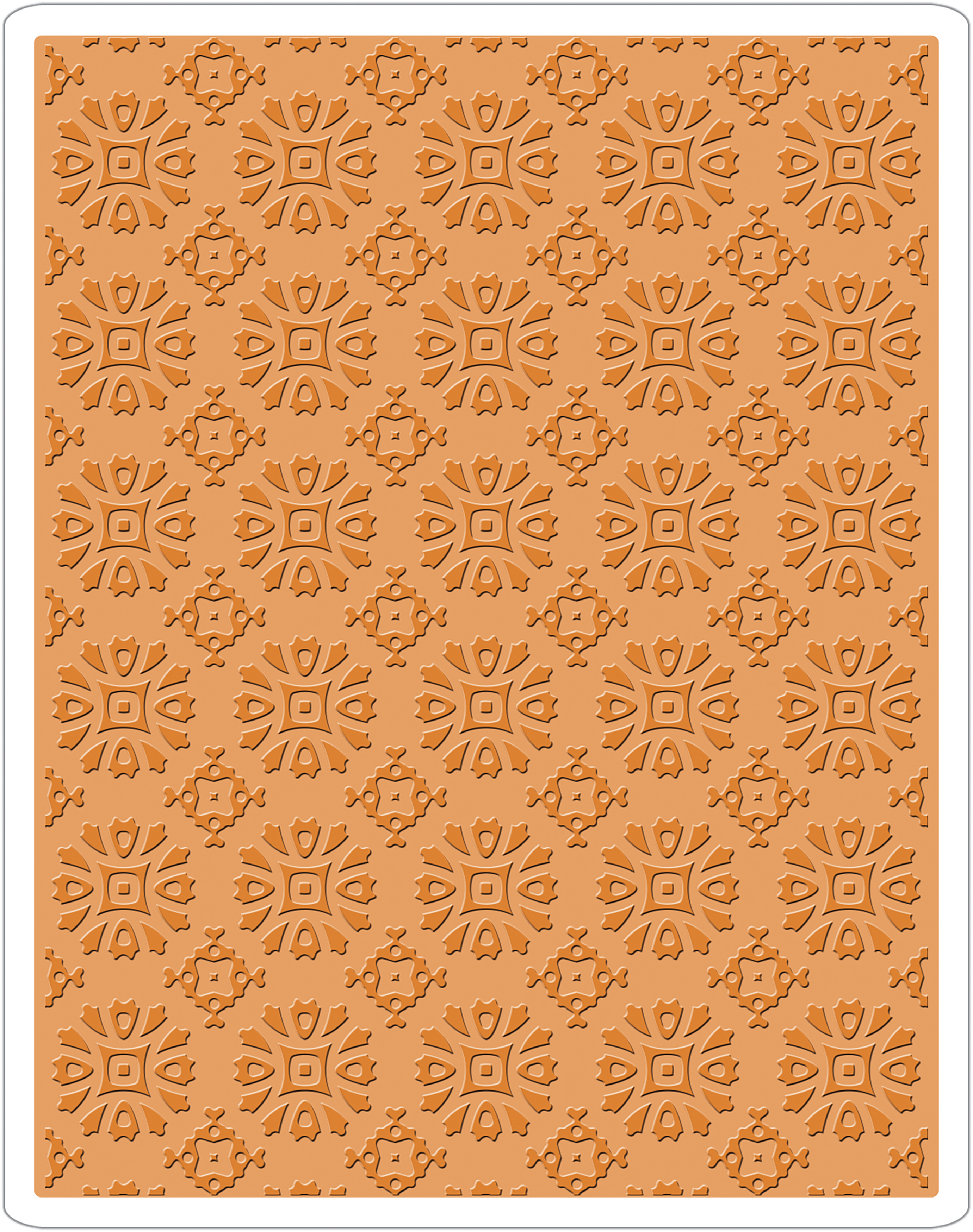Sizzix Texture Fades Embossing Folder By Tim Holtz-Rosettes