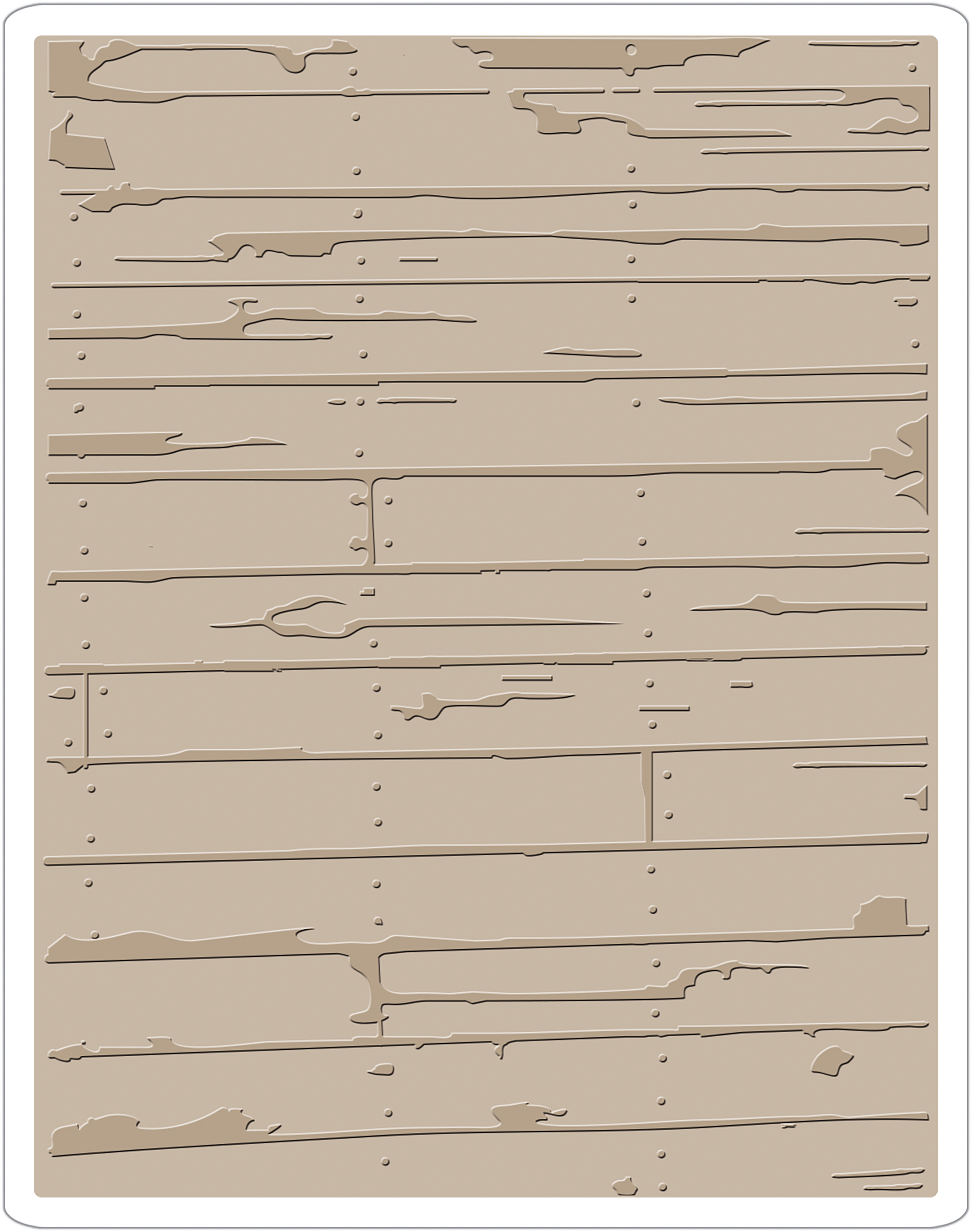 Sizzix Texture Fades Embossing Folder By Tim Holtz-Wood Planks