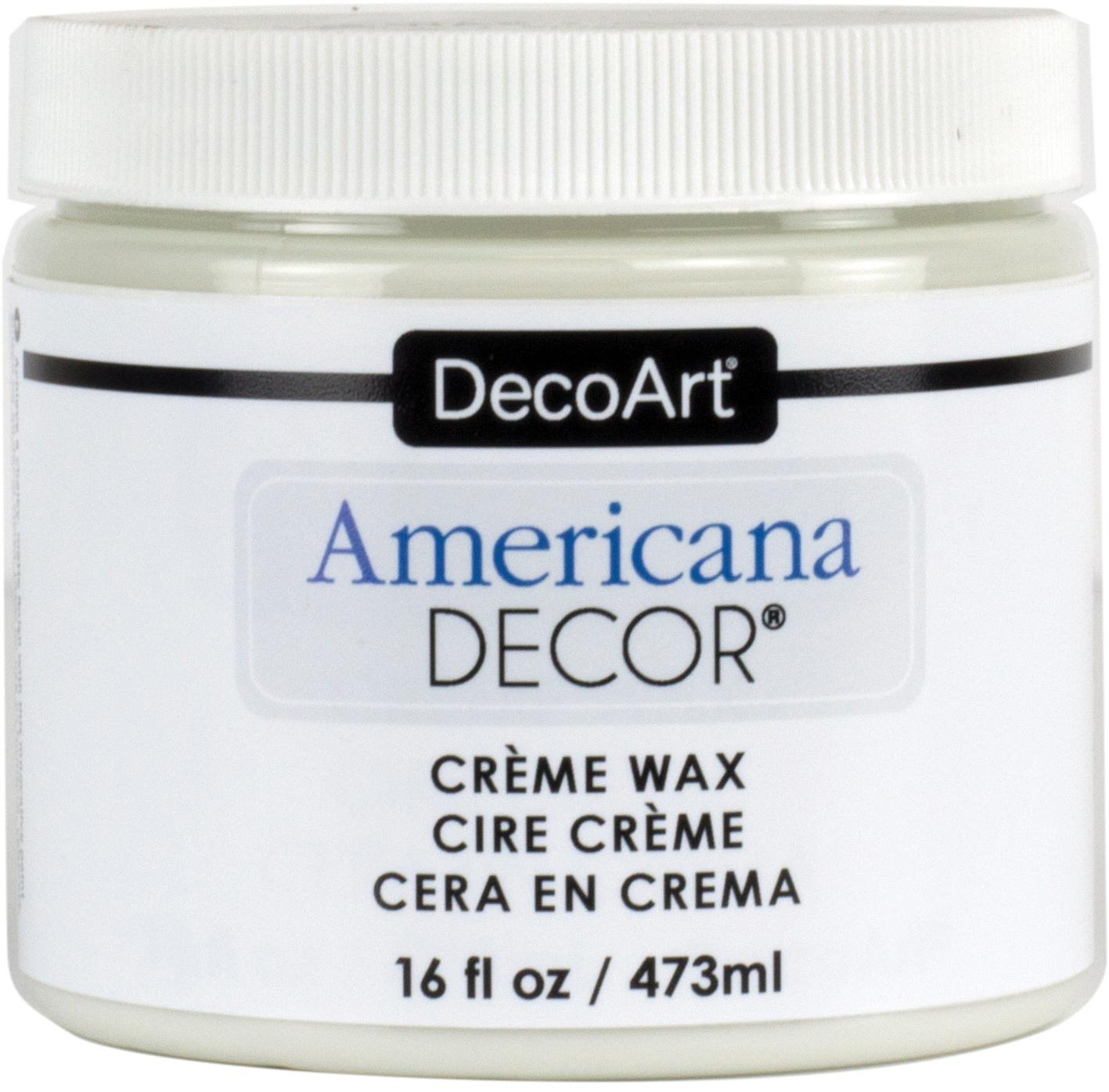 Americana Decor Creme Wax 16oz-Clear