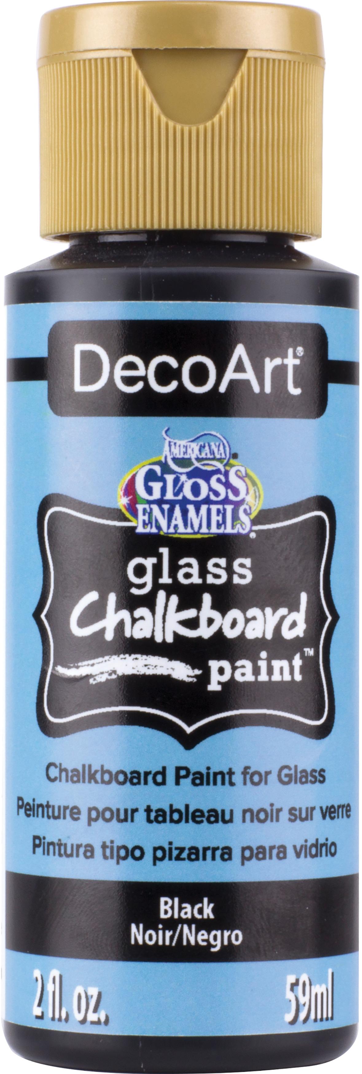 Americana Gloss Enamels Glass Chalkboard Paint 2oz-Black