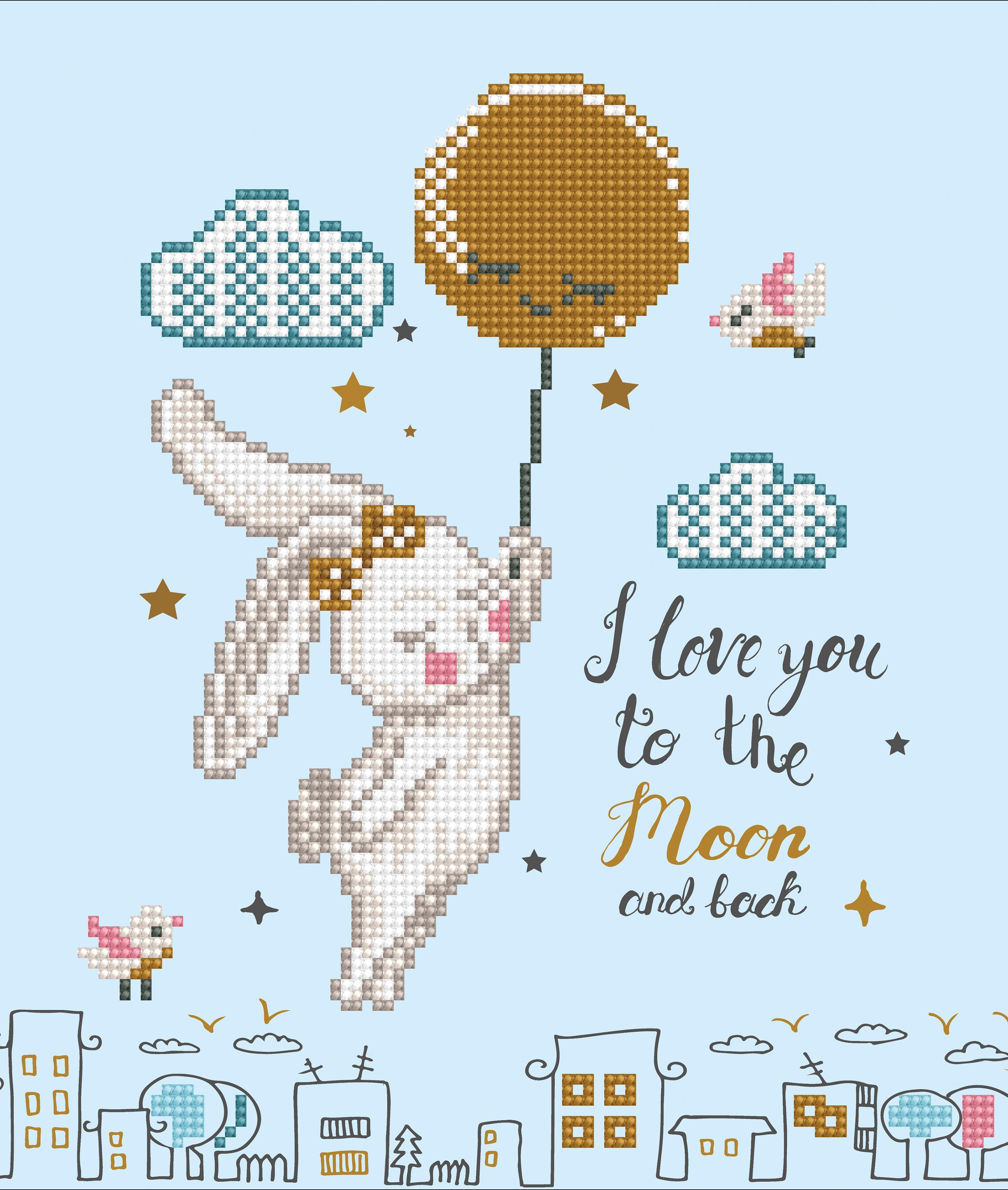 Diamond Dotz Diamond Embroidery Facet Art Kit 12.6X12.6-Love You To The Moon & Back