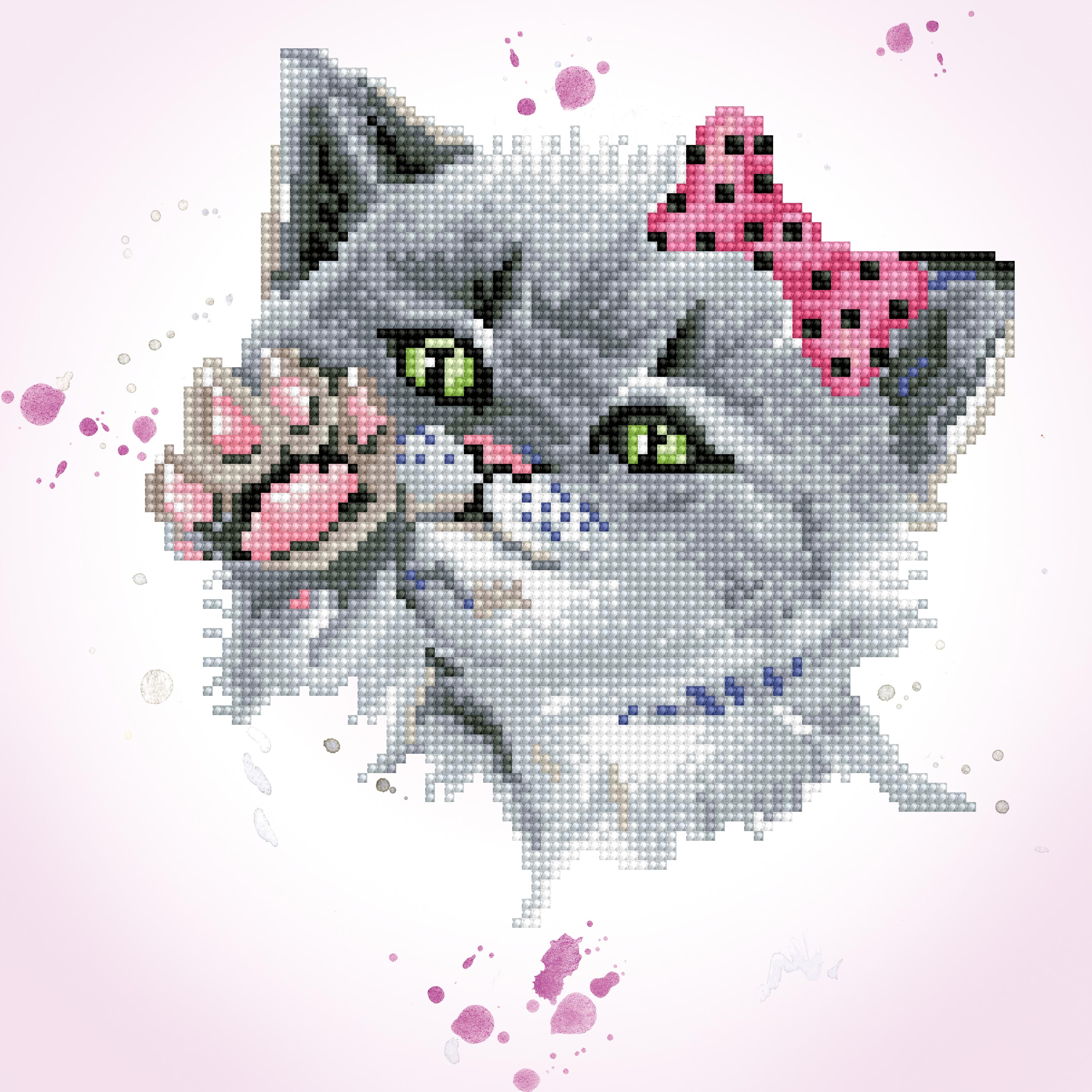 Diamond Dotz Diamond Embroidery Facet Art Kit 12.6X12.6-Eye Spy Kitty