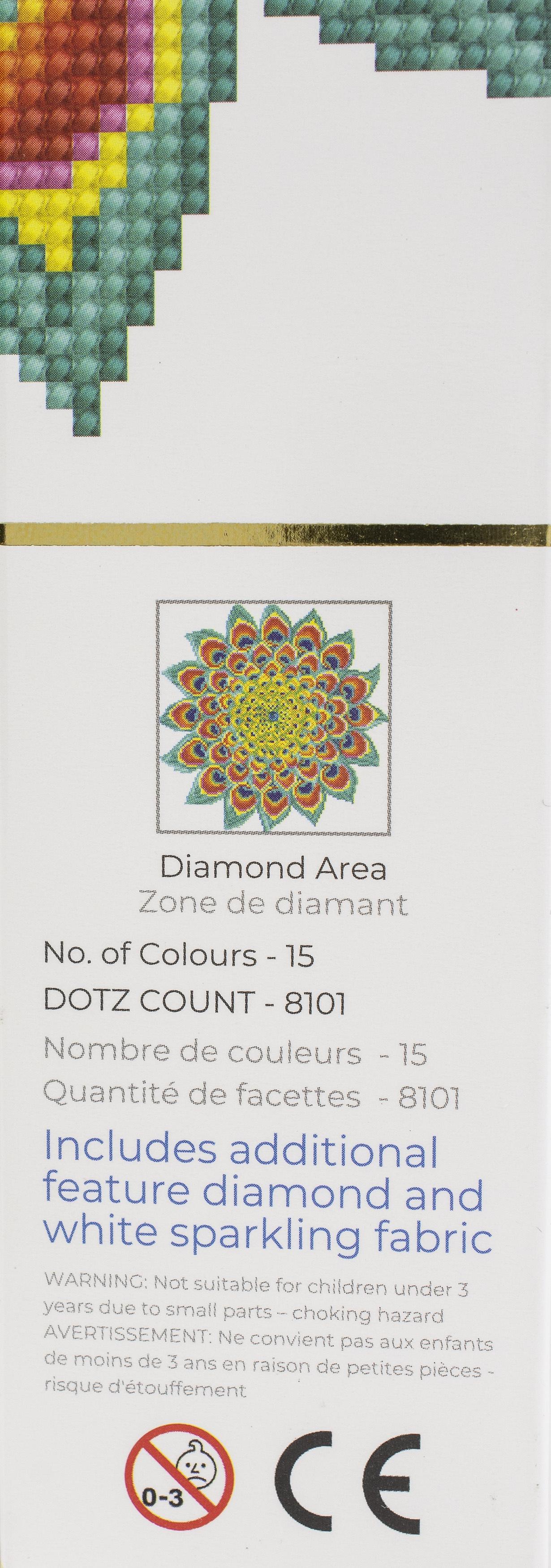 Diamond Dotz Diamond Embroidery Facet Art Kit 12.6X12.6-Peacock Mandala