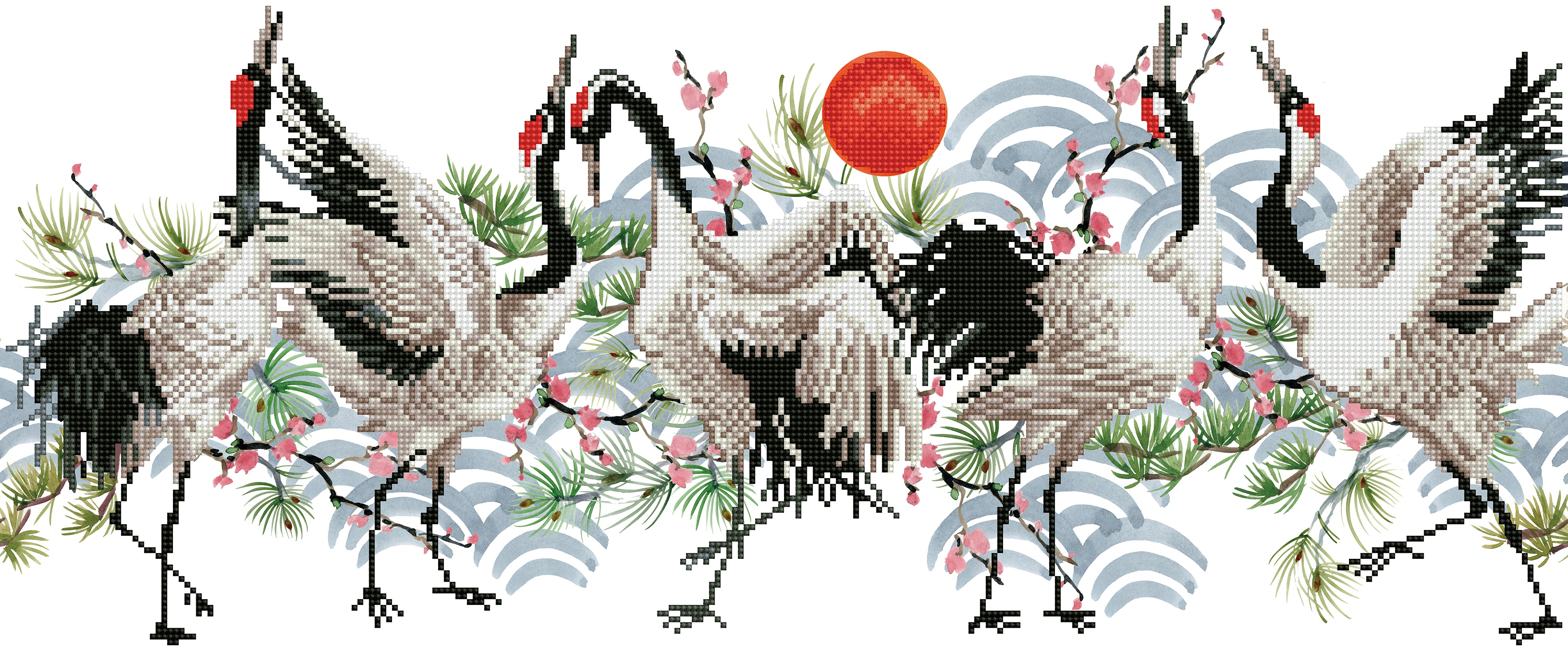 Diamond Dotz Diamond Embroidery Facet Art Kit 30.3X12.6-Brolga Dance