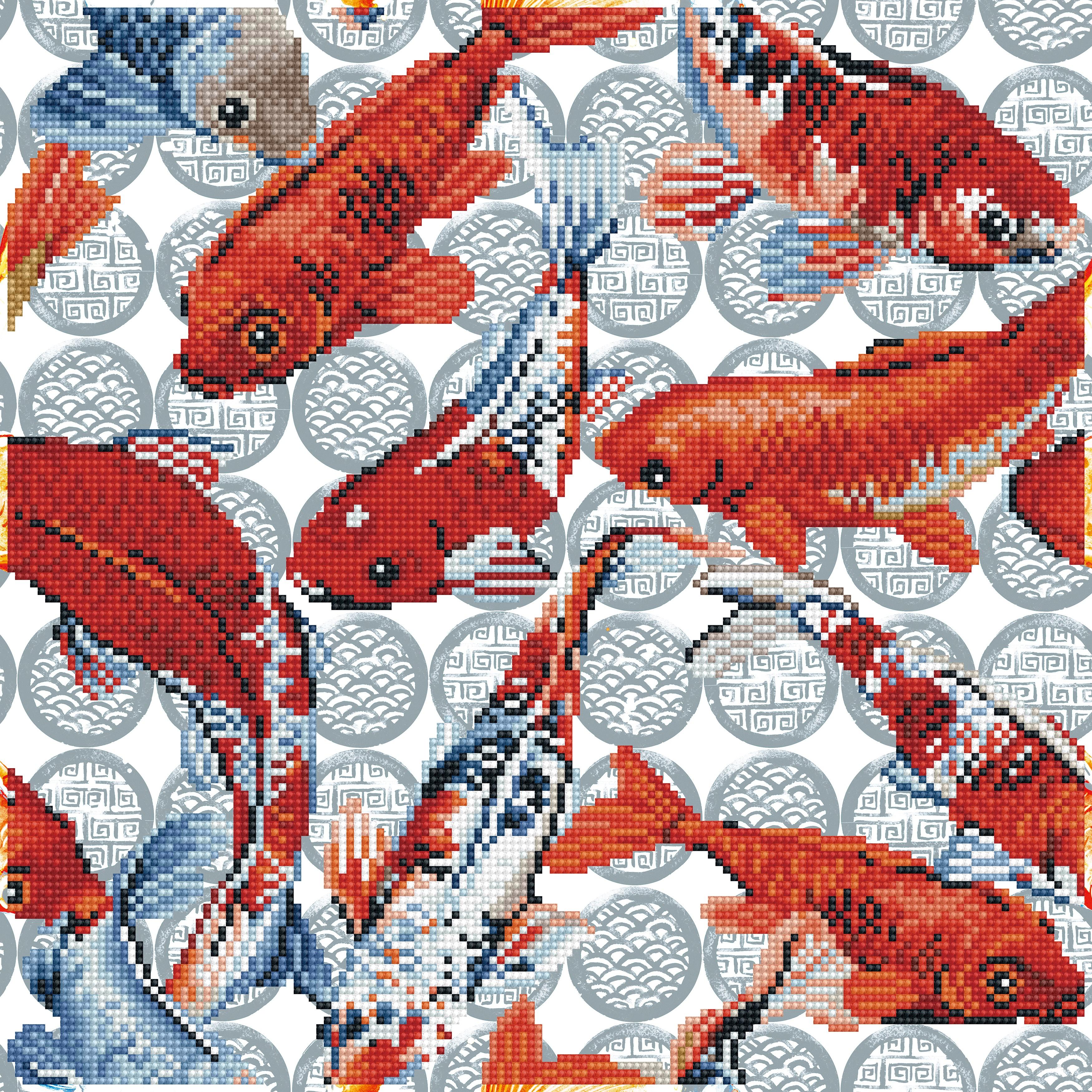 Diamond Dotz Diamond Embroidery Facet Art Kit 16.1X16.1-Koi Mosaic