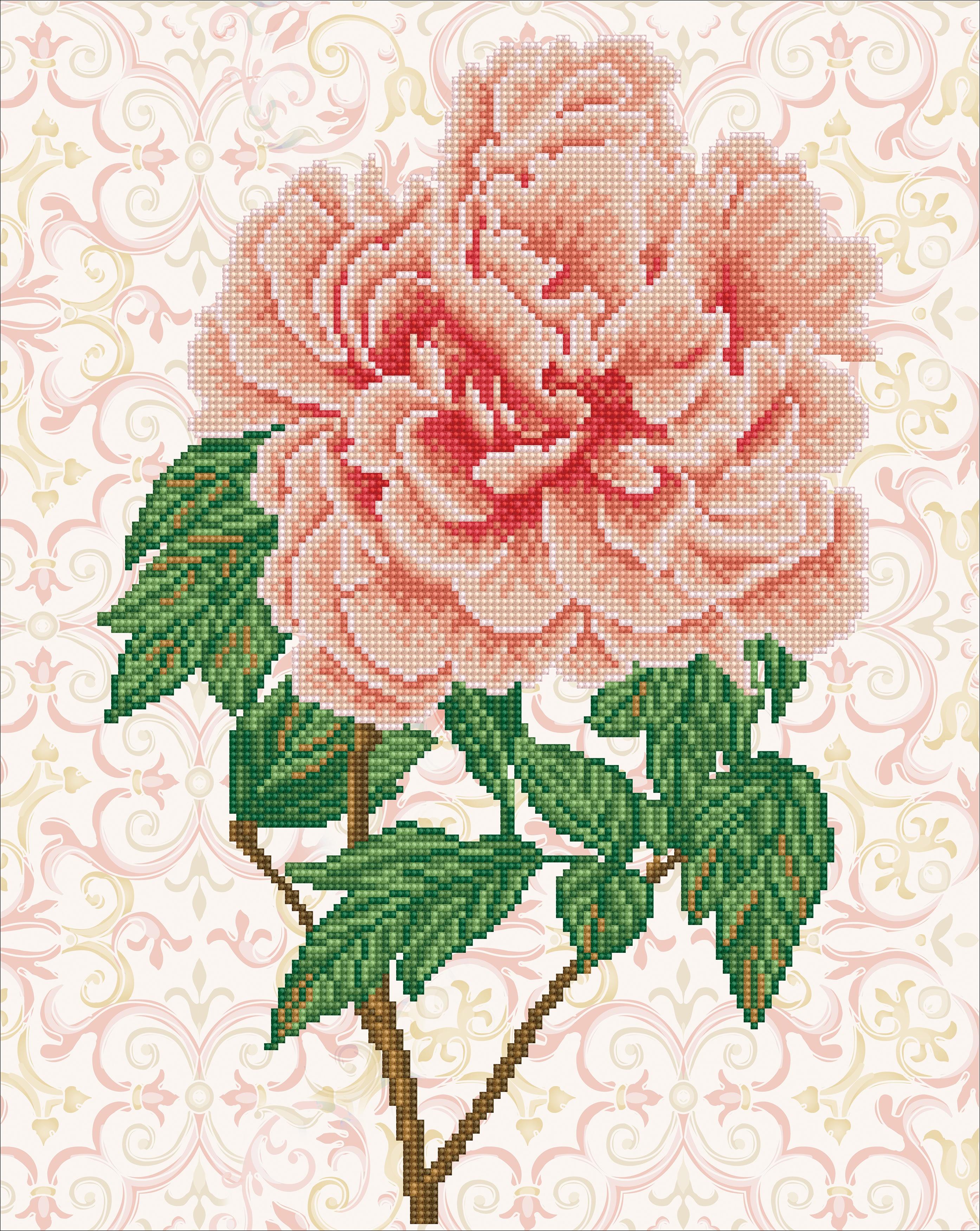 Diamond Dotz Diamond Embroidery Facet Art Kit 15.8X19.7-Rose Blush
