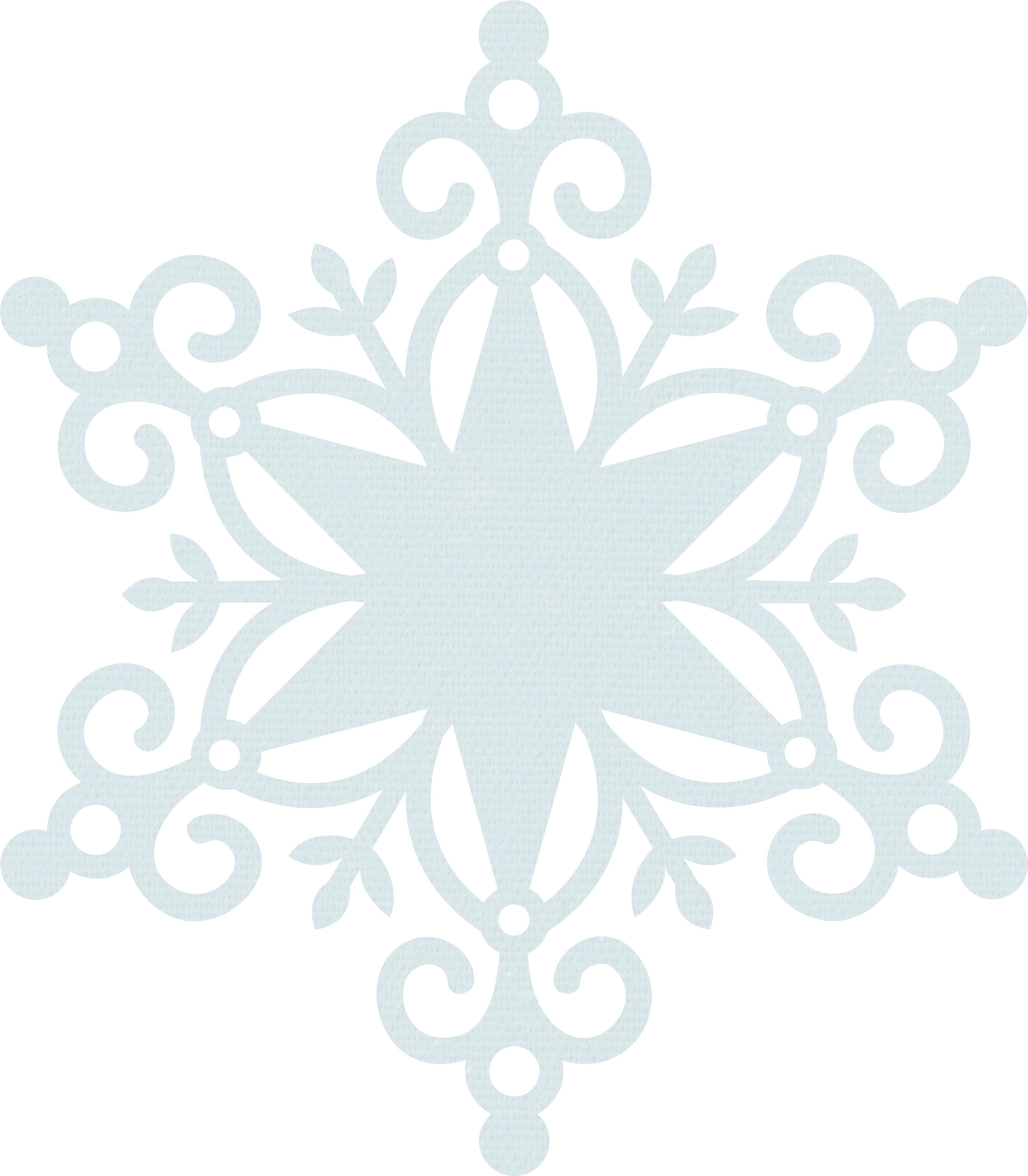 Wonderland Snowflake Die Cut Paper