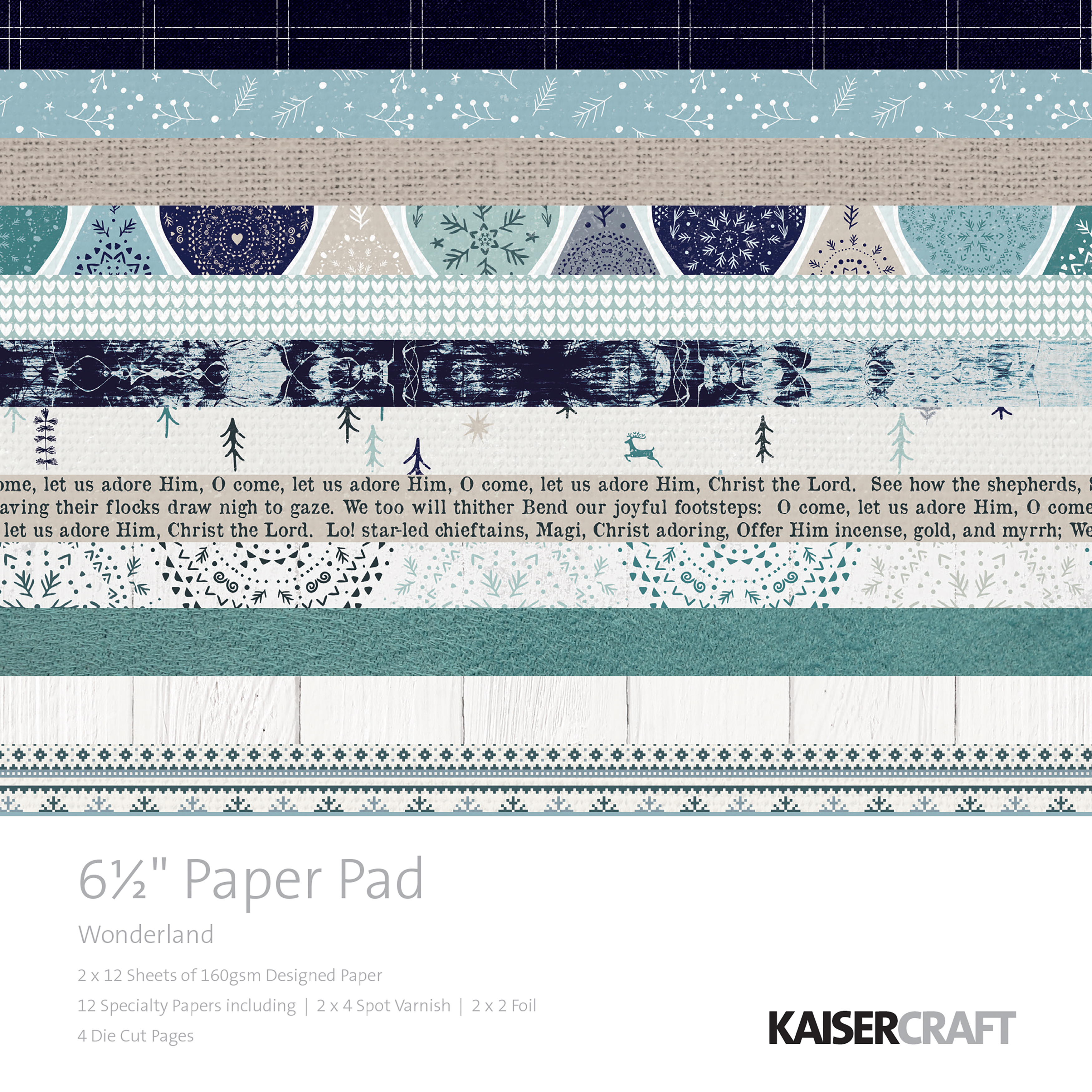 Kaisercraft Paper Pad 6.5X6.5 40/Pkg-Wonderland