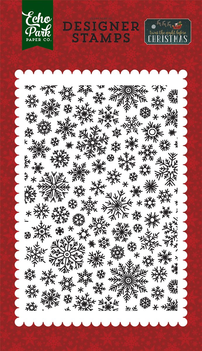 Echo Park Stamps -'Twas The Night Before, Shimer Snowflake