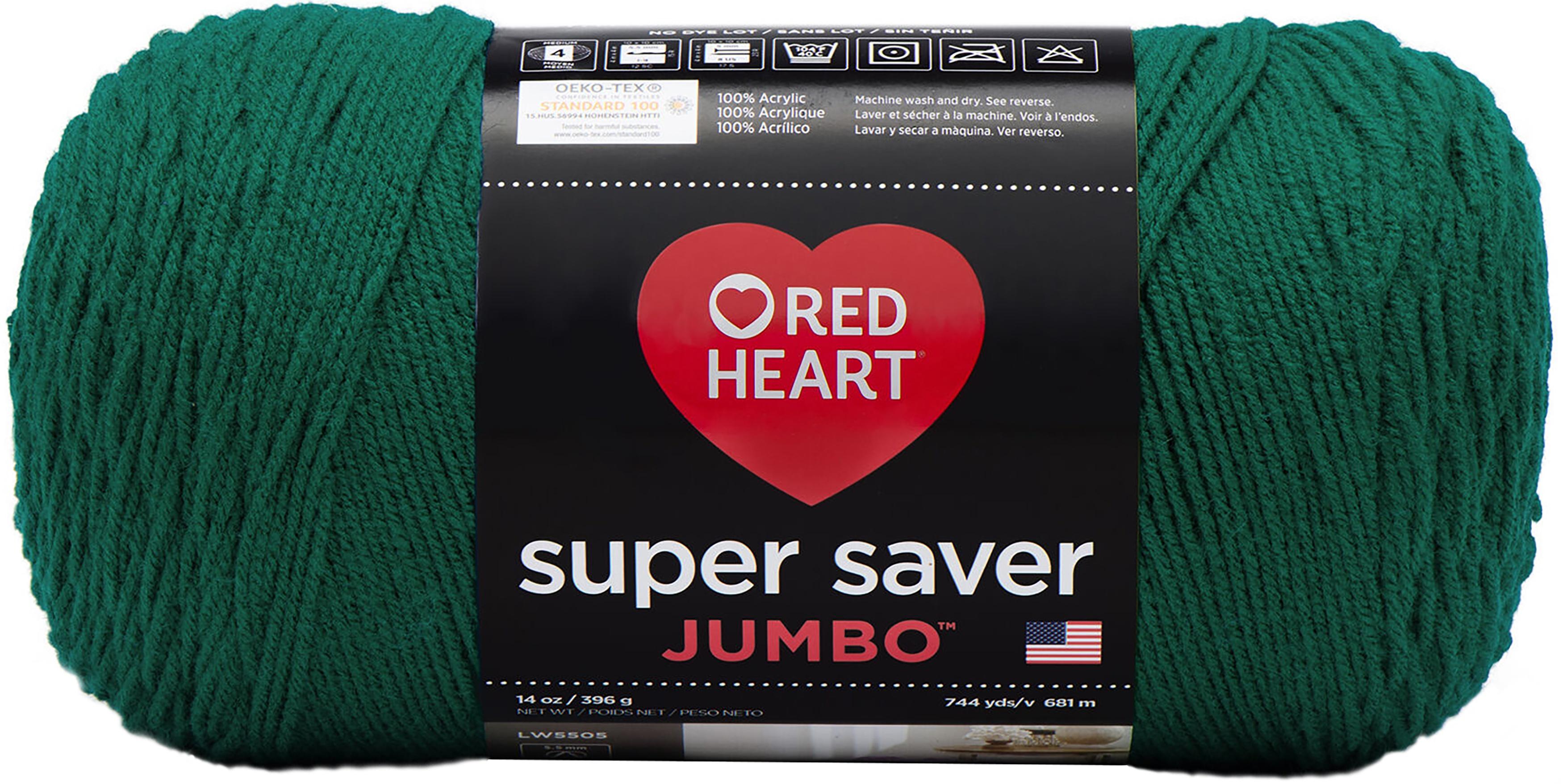 Red Heart Super Saver Jumbo Yarn-Paddy Green