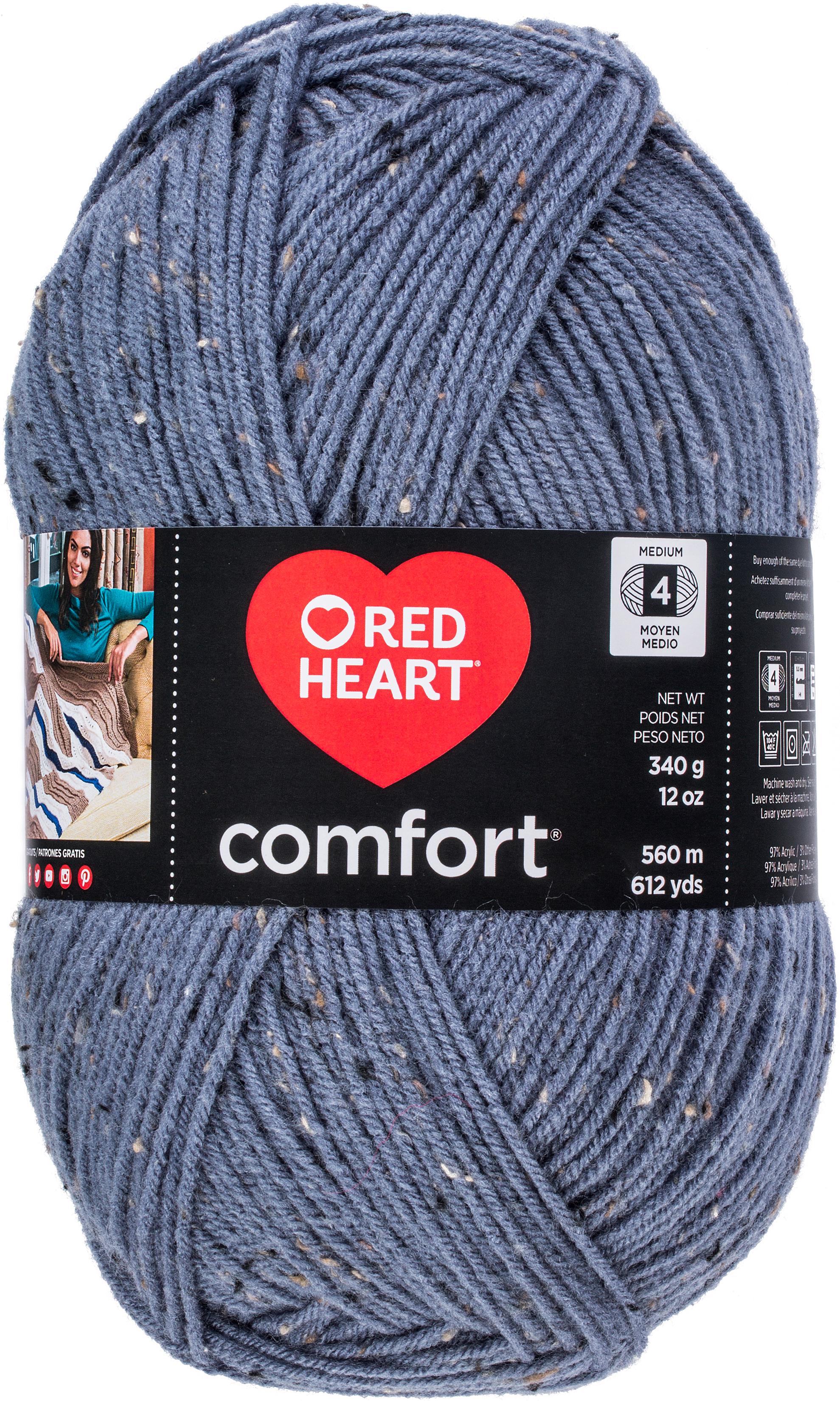 Red Heart Comfort Yarn-Denim Fleck