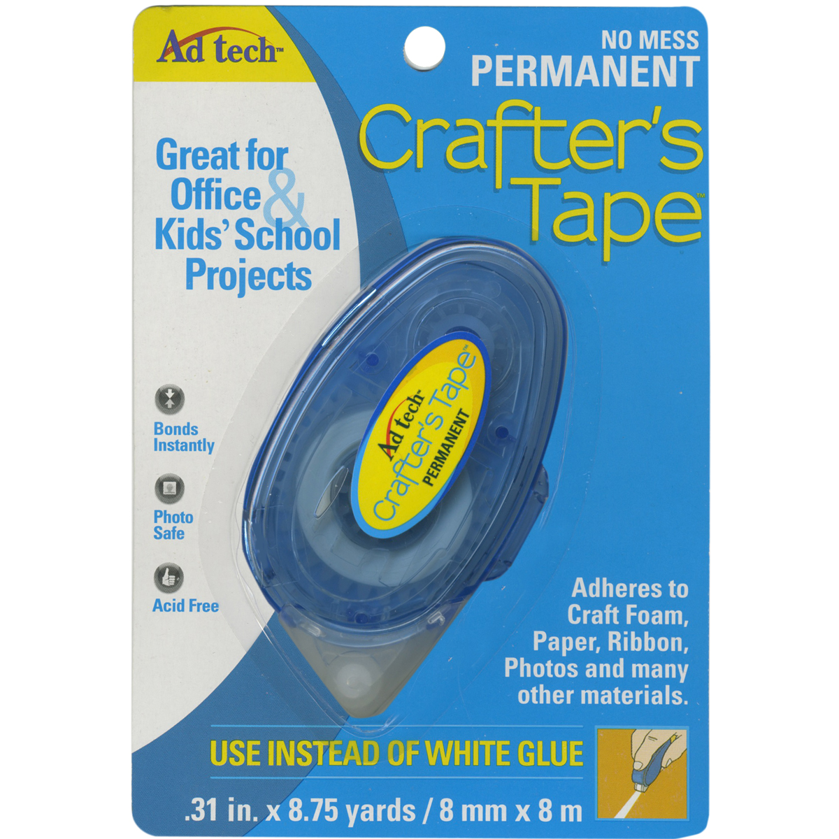 Crafter's Tape Permanent Glue Runner-.31X315