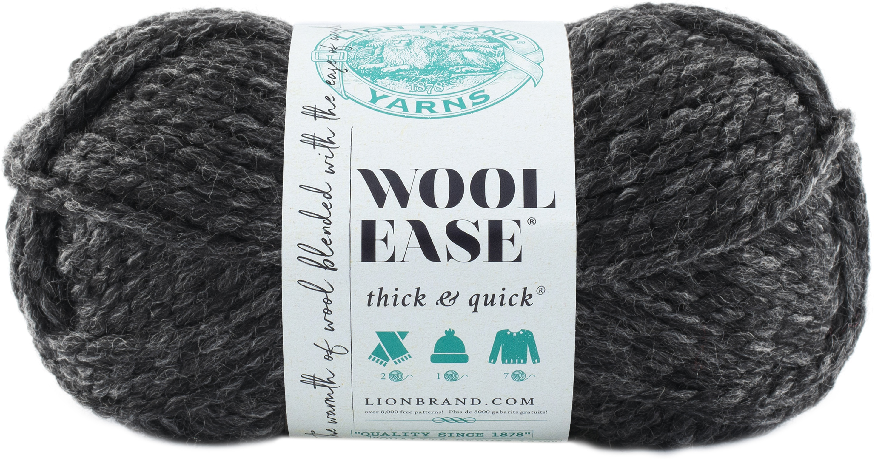 Lion Brand Wool-Ease Thick & Quick Yarn-Charcoal