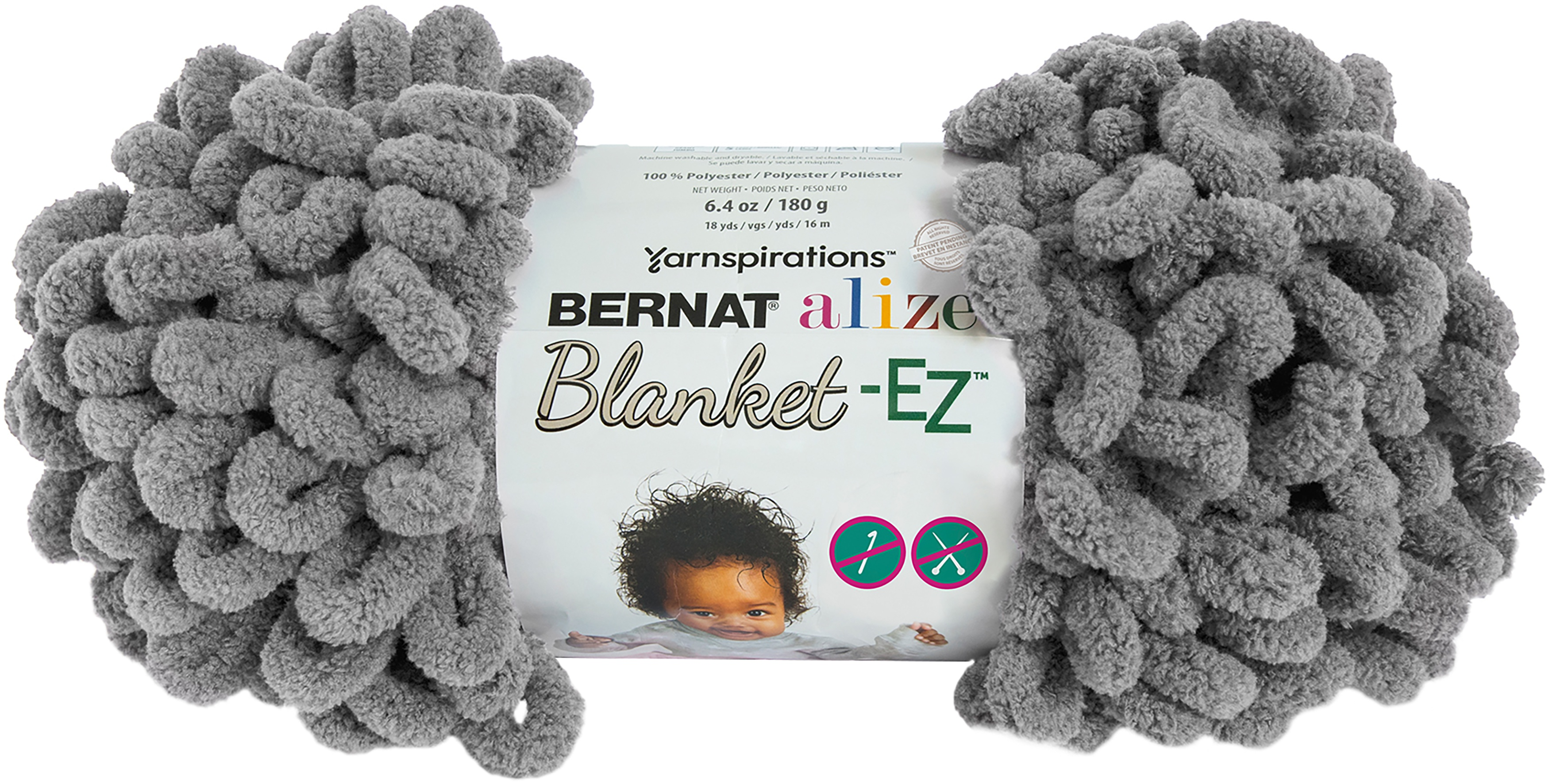 Bernat Alize Blanket-EZ Yarn-Dark Gray