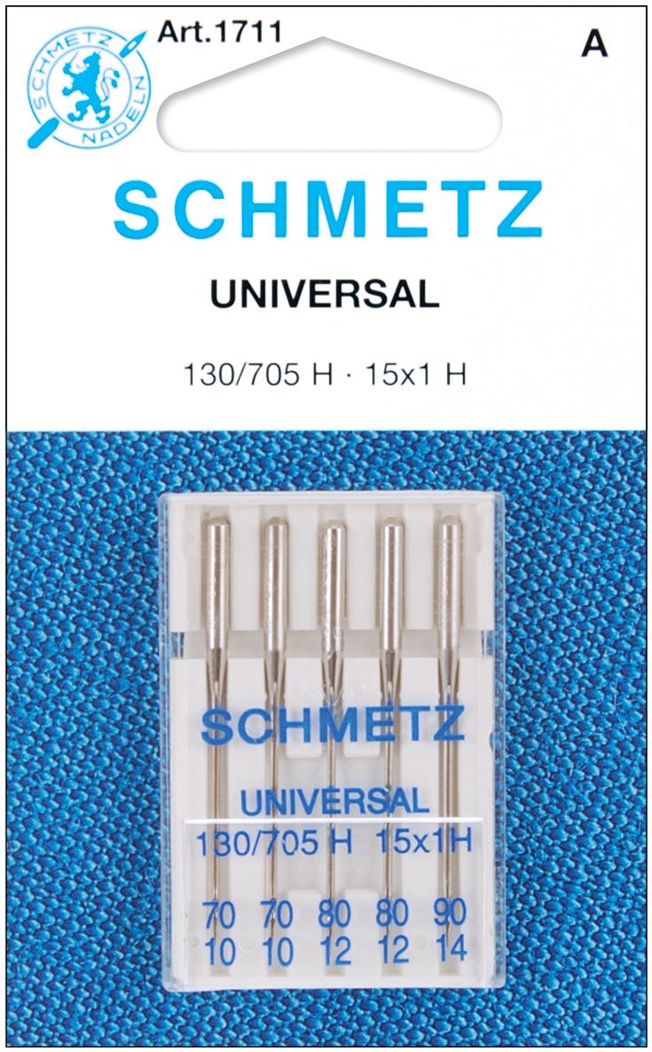 Schmetz Universal Machine Needles-Sizes 10/70 (2), 12/80 (2) & 14/90 (1)