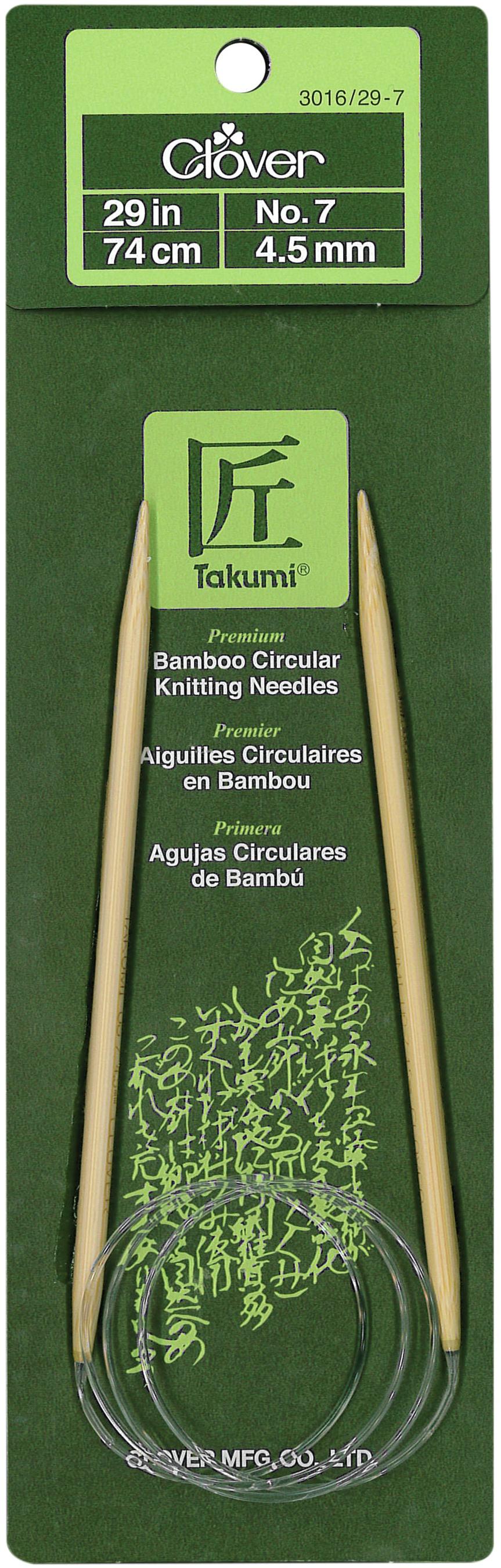 Takumi Bamboo Circular Knitting Needles 29-Size 7/4.5mm