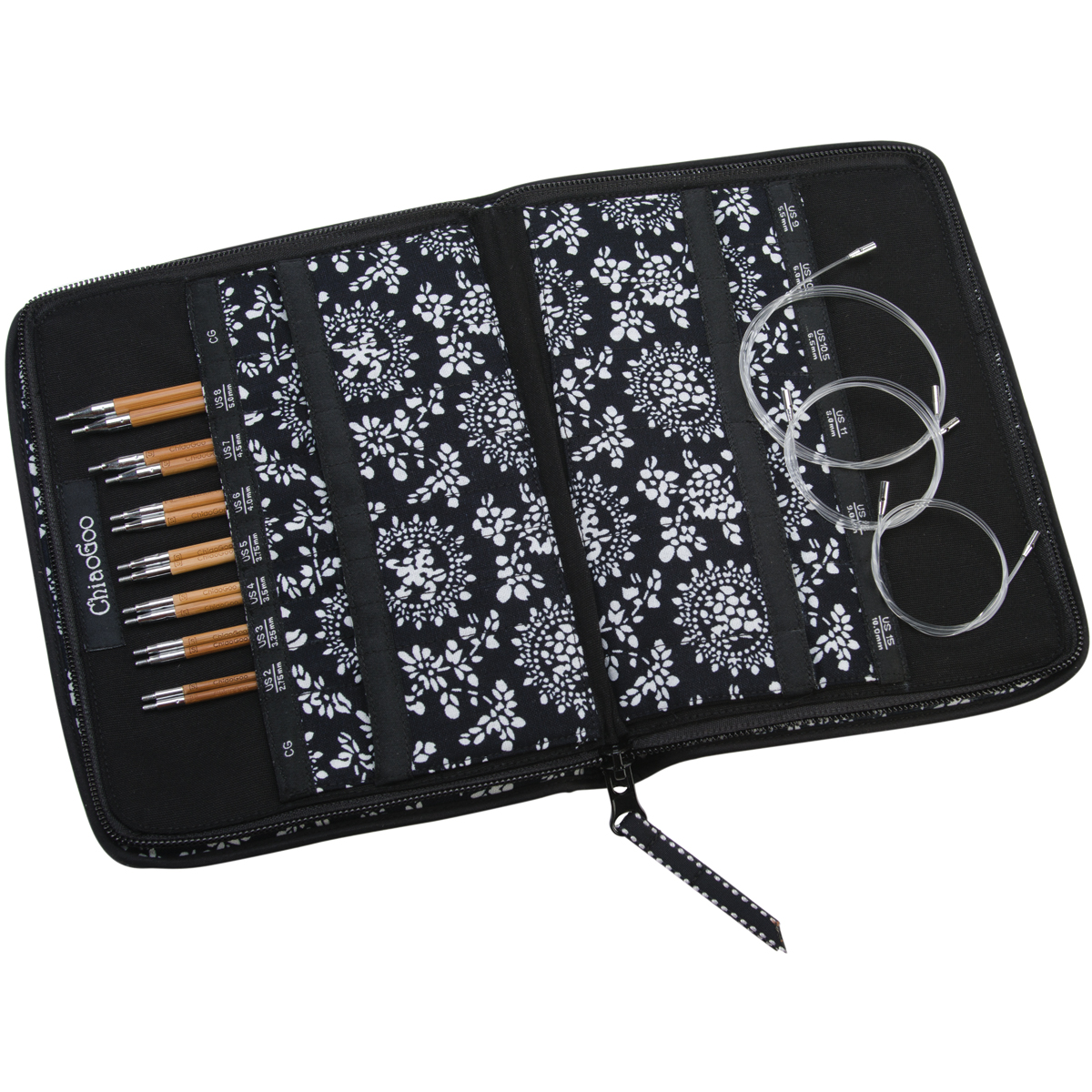 ChiaoGoo SPIN Bamboo Intchg Knitting Needle 5 Tip Set-Small