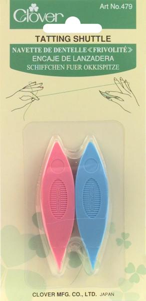 Clover Plastic Tatting Shuttles 2/Pkg-Assorted Colors
