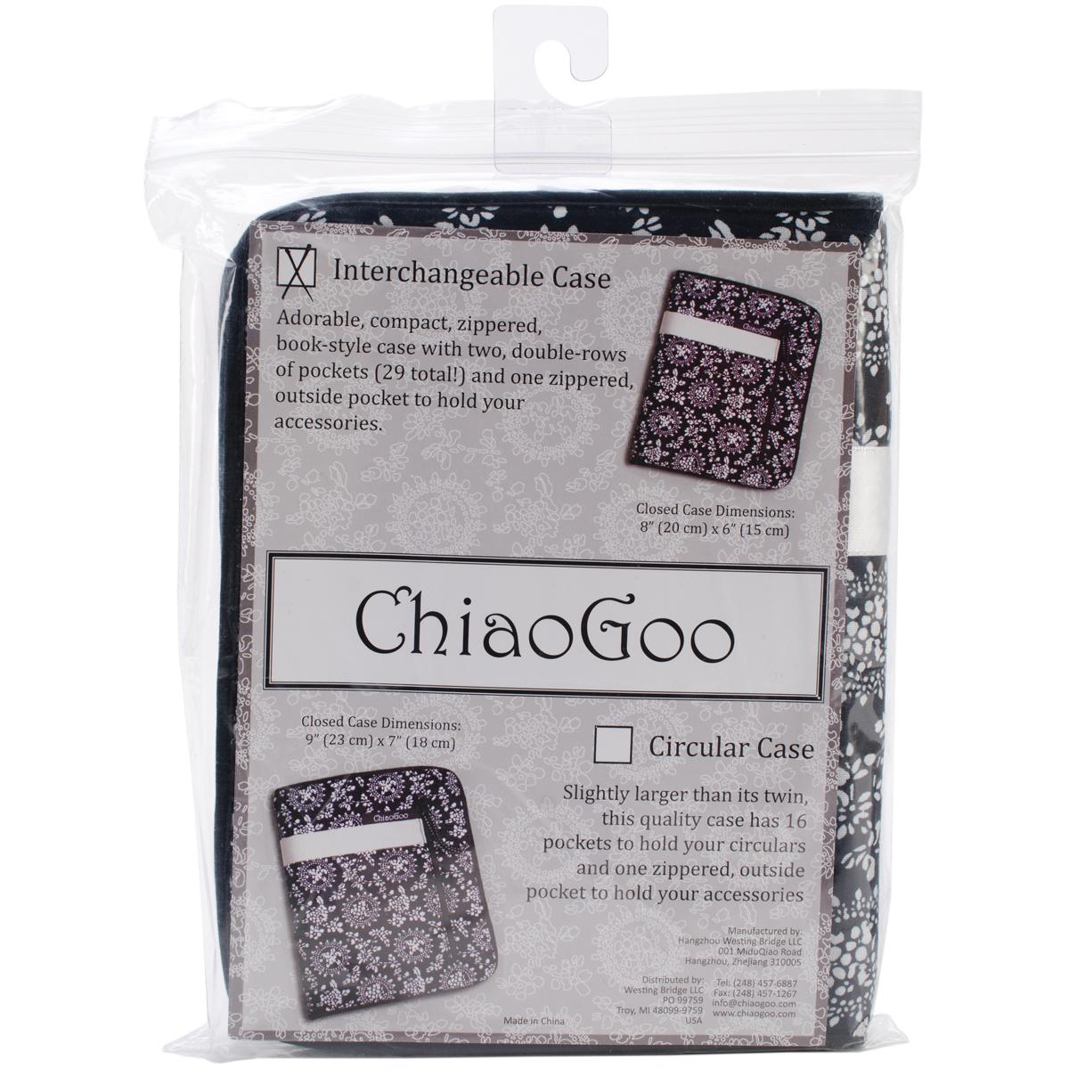 ChiaoGoo Interchangeable Needle Case - Empty-White Ribbon